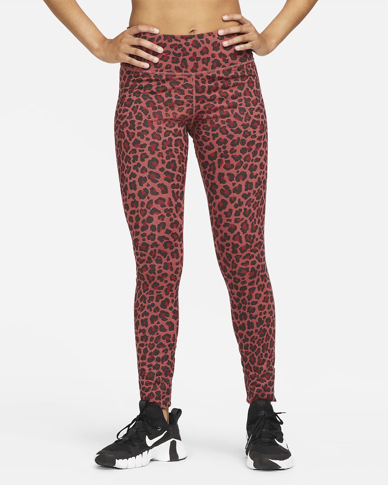 Nike Dri-FIT One Women's Mid-Rise Printed Leggings