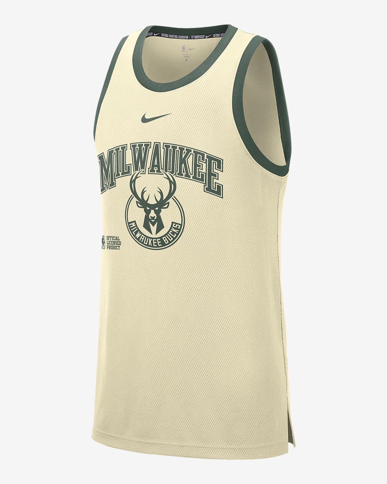 Milwaukee Bucks Courtside DNA Nike NBA-tanktop voor heren