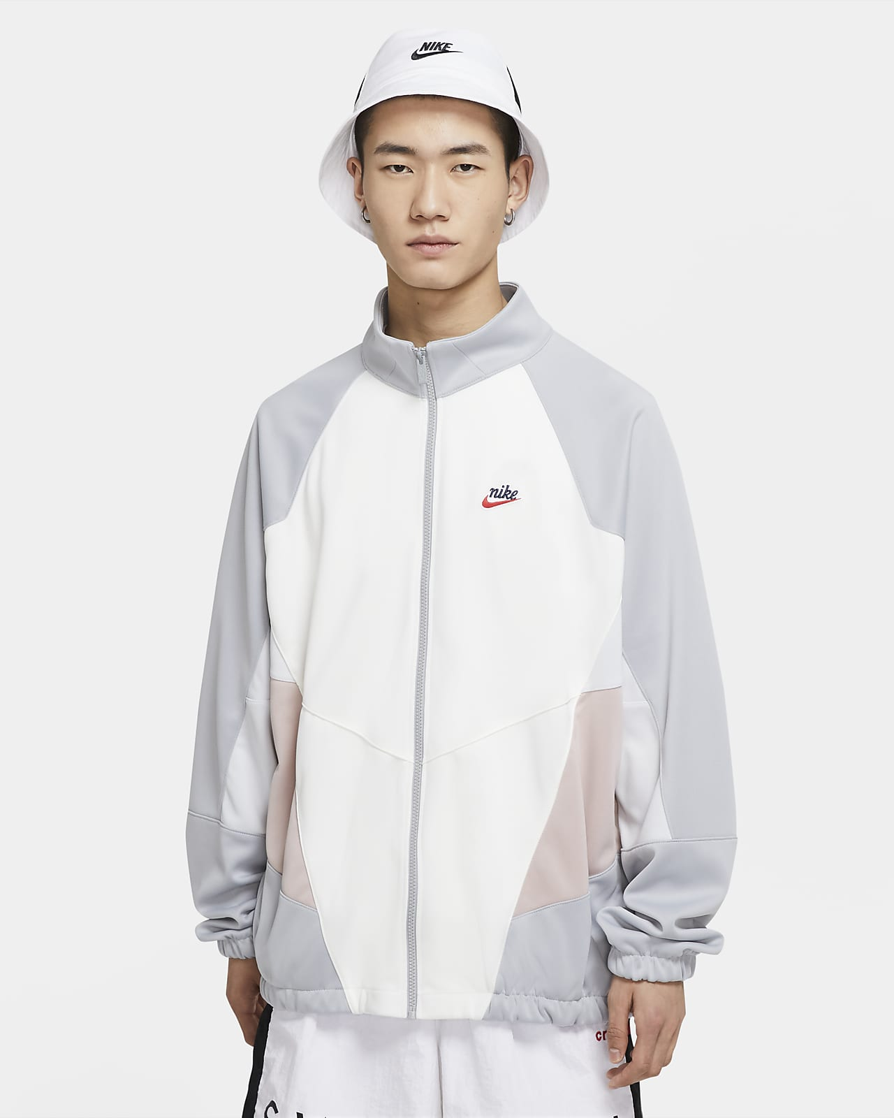 Giacca in tessuto a maglia di poliestere Nike Sportswear Heritage Windrunner - Uomo