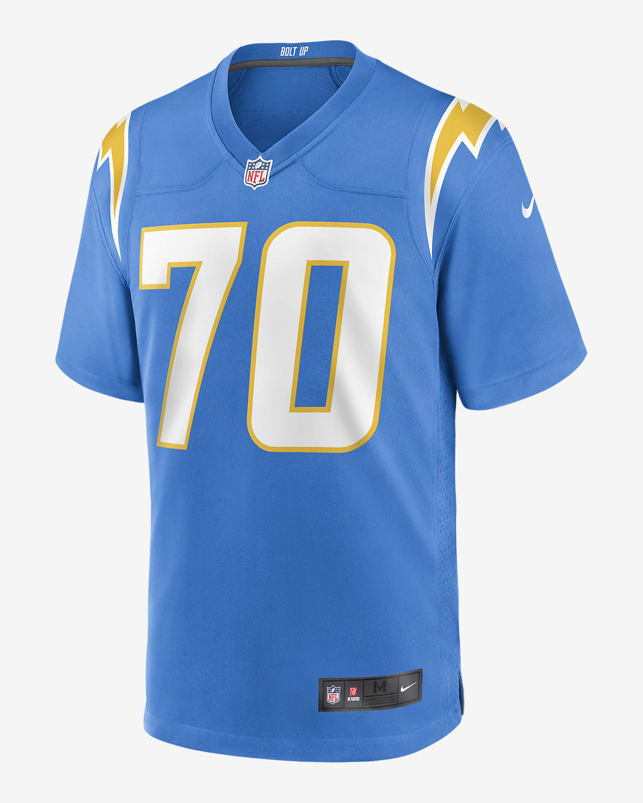 NFL Los Angeles Chargers (Rashawn Slater) Men's Game Football Jersey