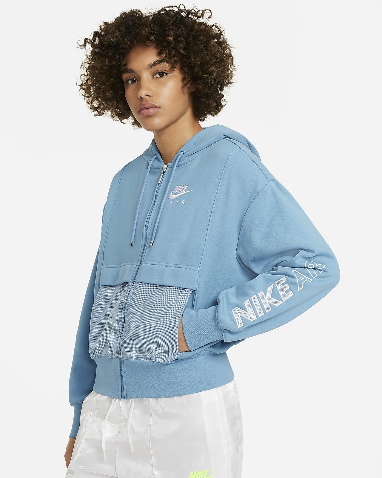 Prenda superior de tejido Fleece con cierre completo para mujer Nike Air