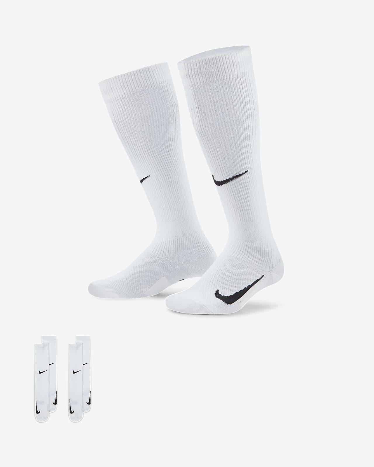 Nike Swoosh Over-the-Calf 儿童足球童袜(2 双)