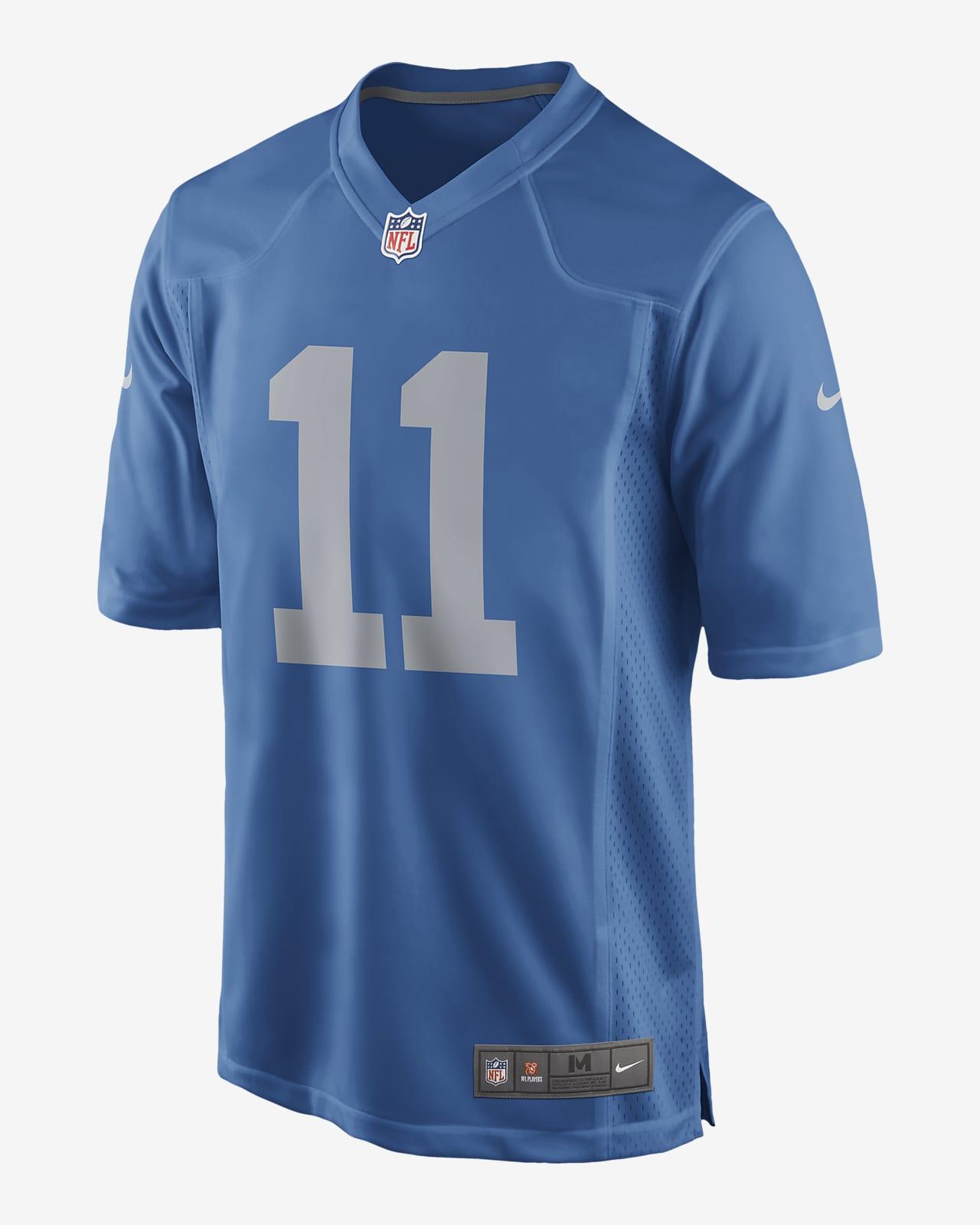 NFL Detroit Lions (Marvin Jones) Men's Game Football Jersey