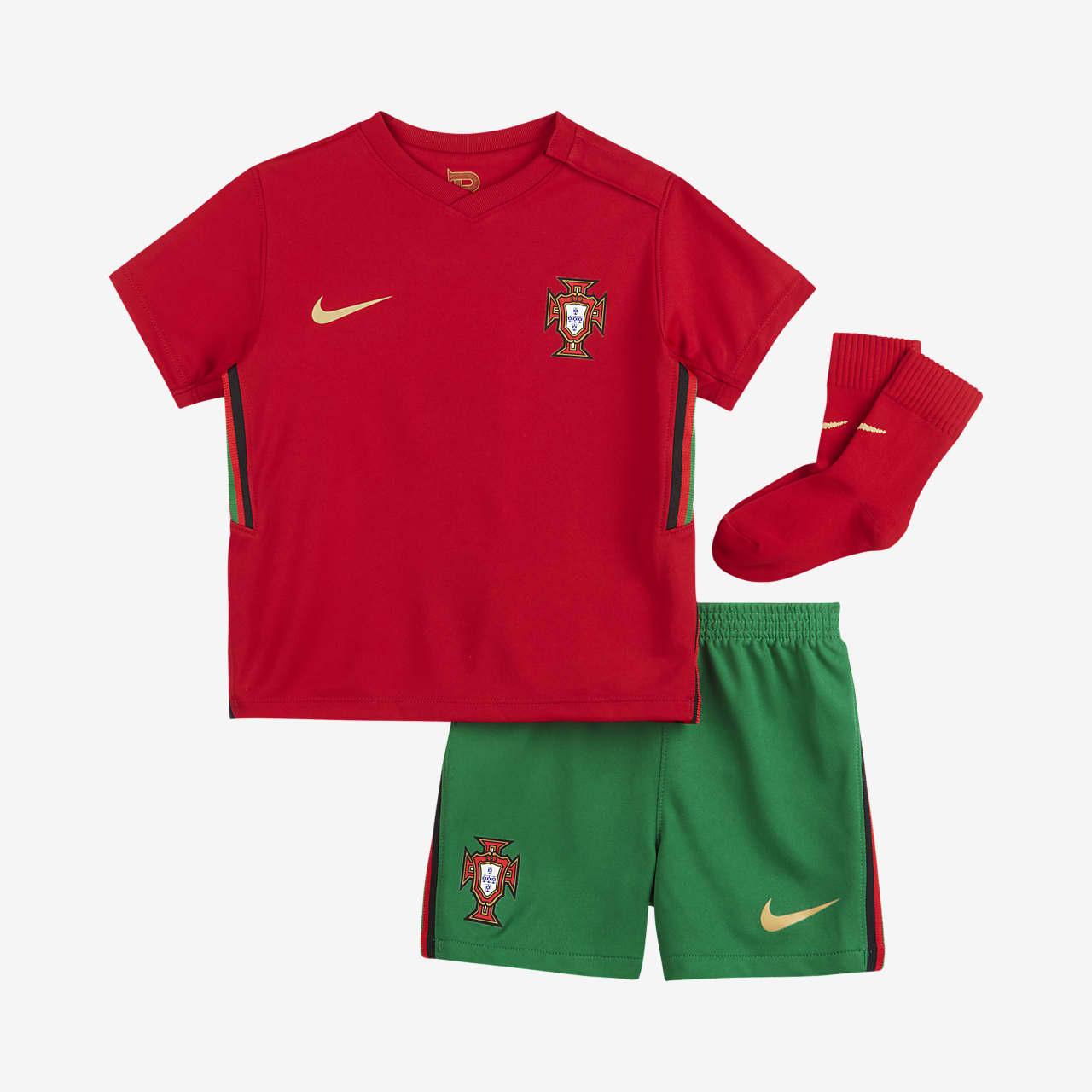 Футбольный комплект для малышей с символикой домашней формы сборной Португалии 2020