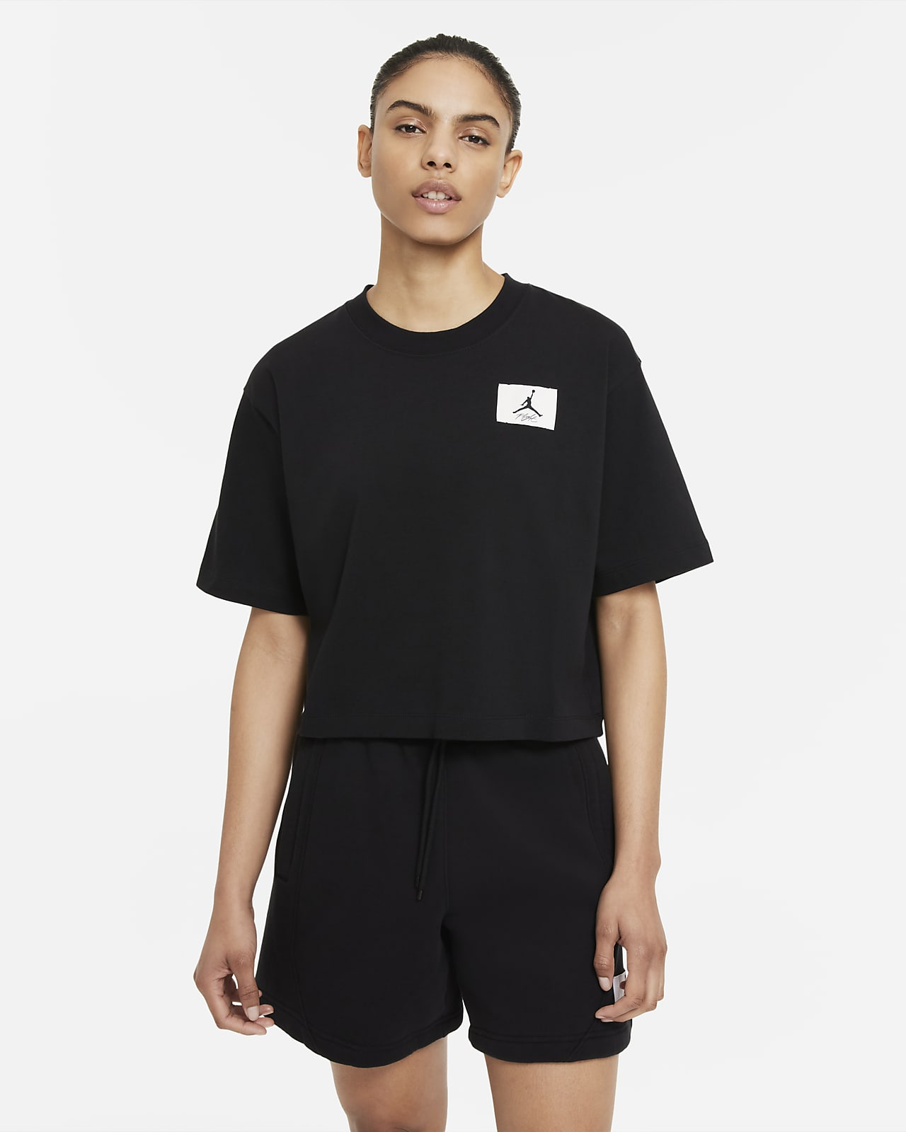 T-shirt com corte a direito Jordan Essentials para mulher