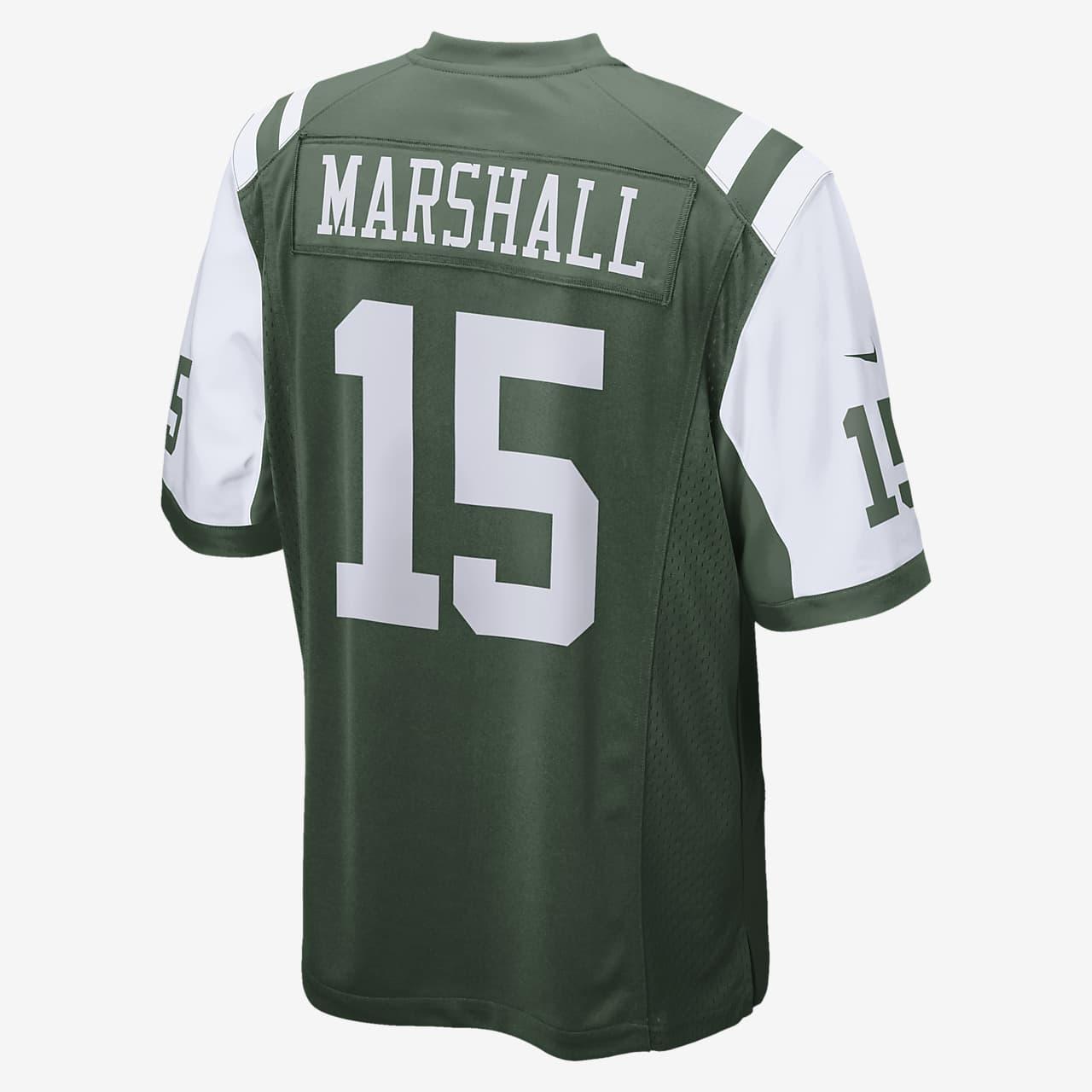 NFL New York Jets (Brandon Marshall) Men's American Football Home Game Jersey
