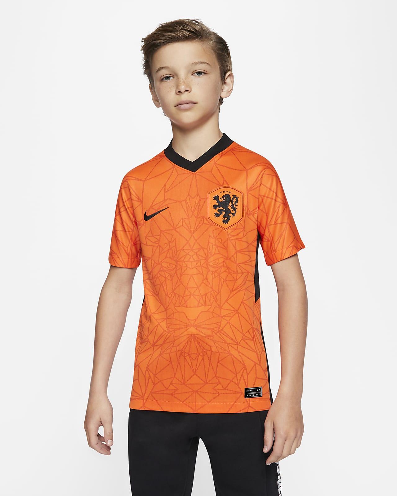 Maillot de football Netherlands 2020 Stadium Home pour Enfant plus âgé