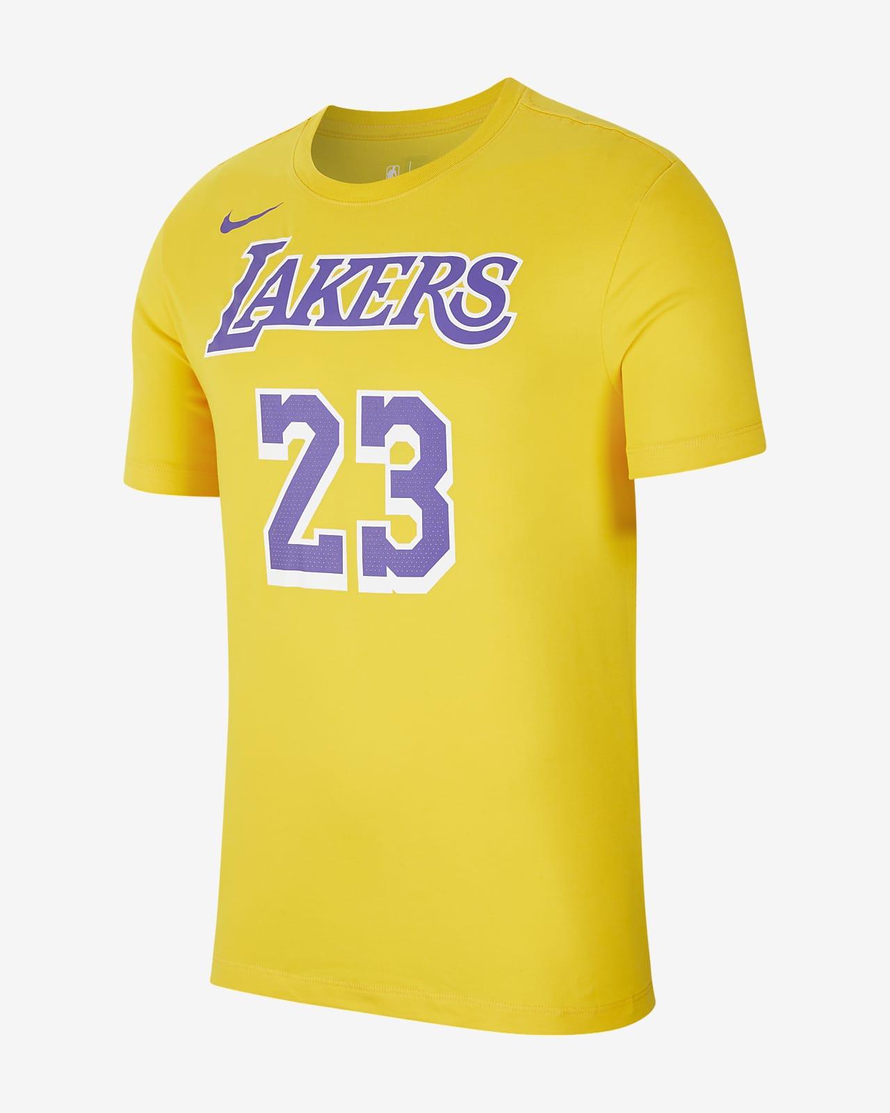 Playera de la NBA para hombre LeBron James Los Angeles Lakers Nike Dri-FIT