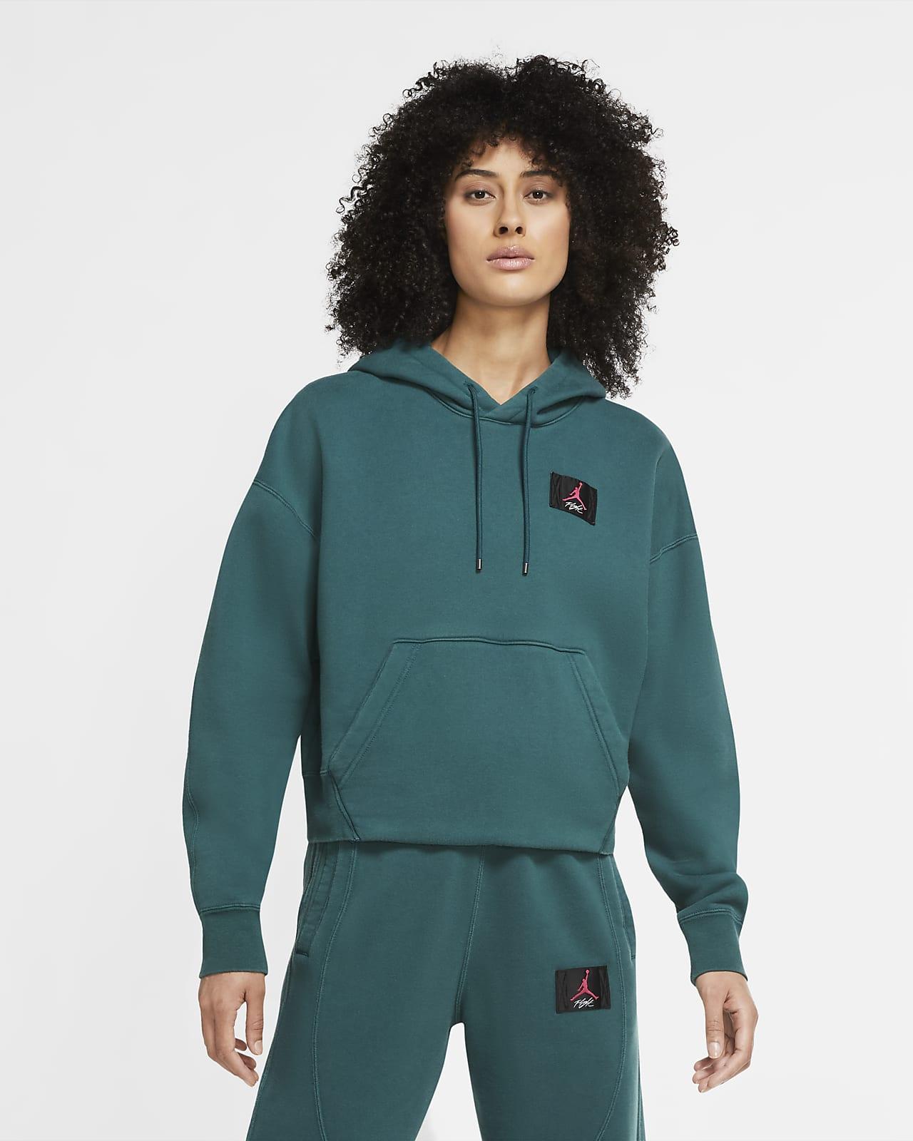 เสื้อมีฮู้ดผ้าฟลีซผู้หญิงแบบสวม Jordan Flight
