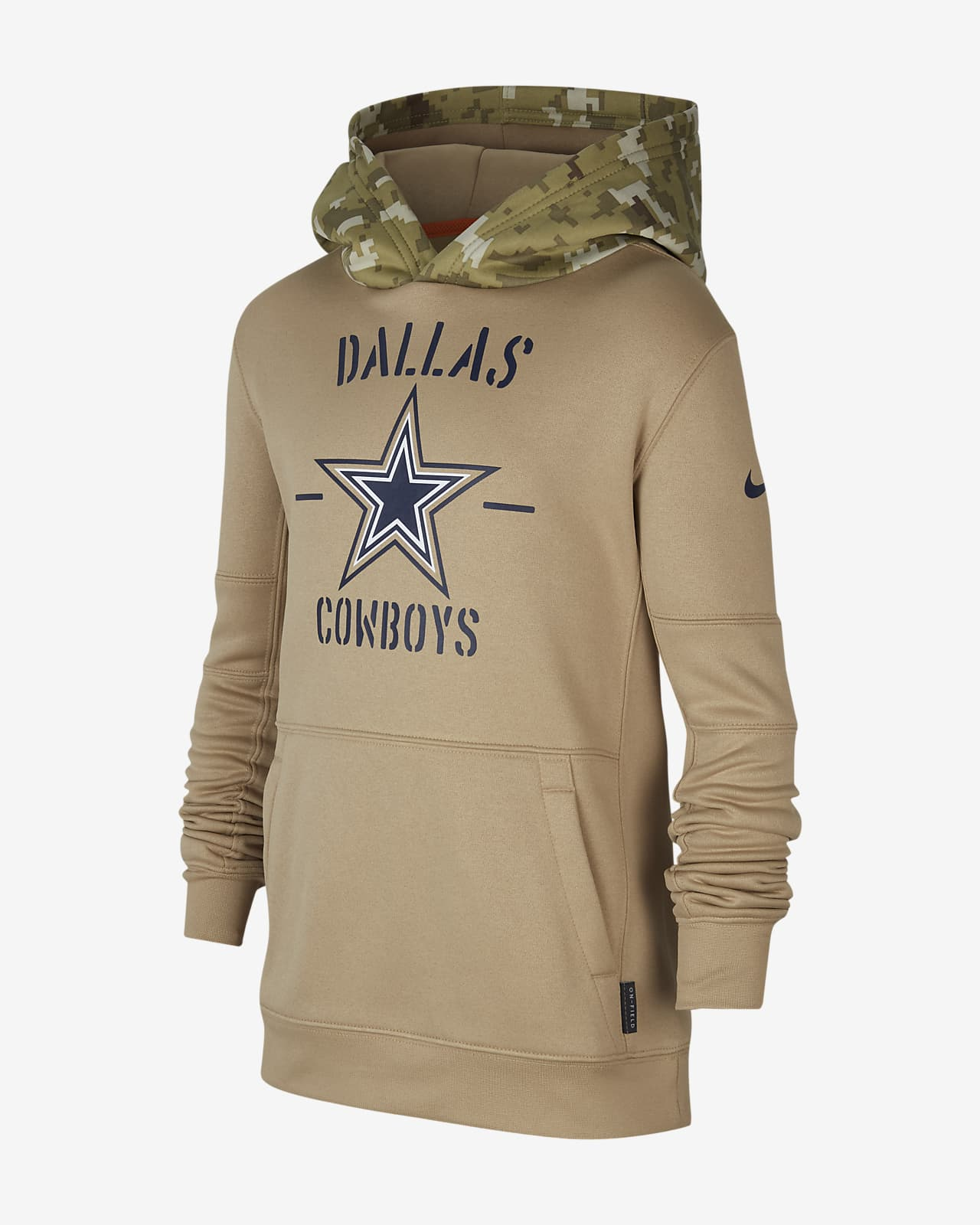 Nike Therma Salute to Service (NFL Cowboys) Big Kids' Hoodie