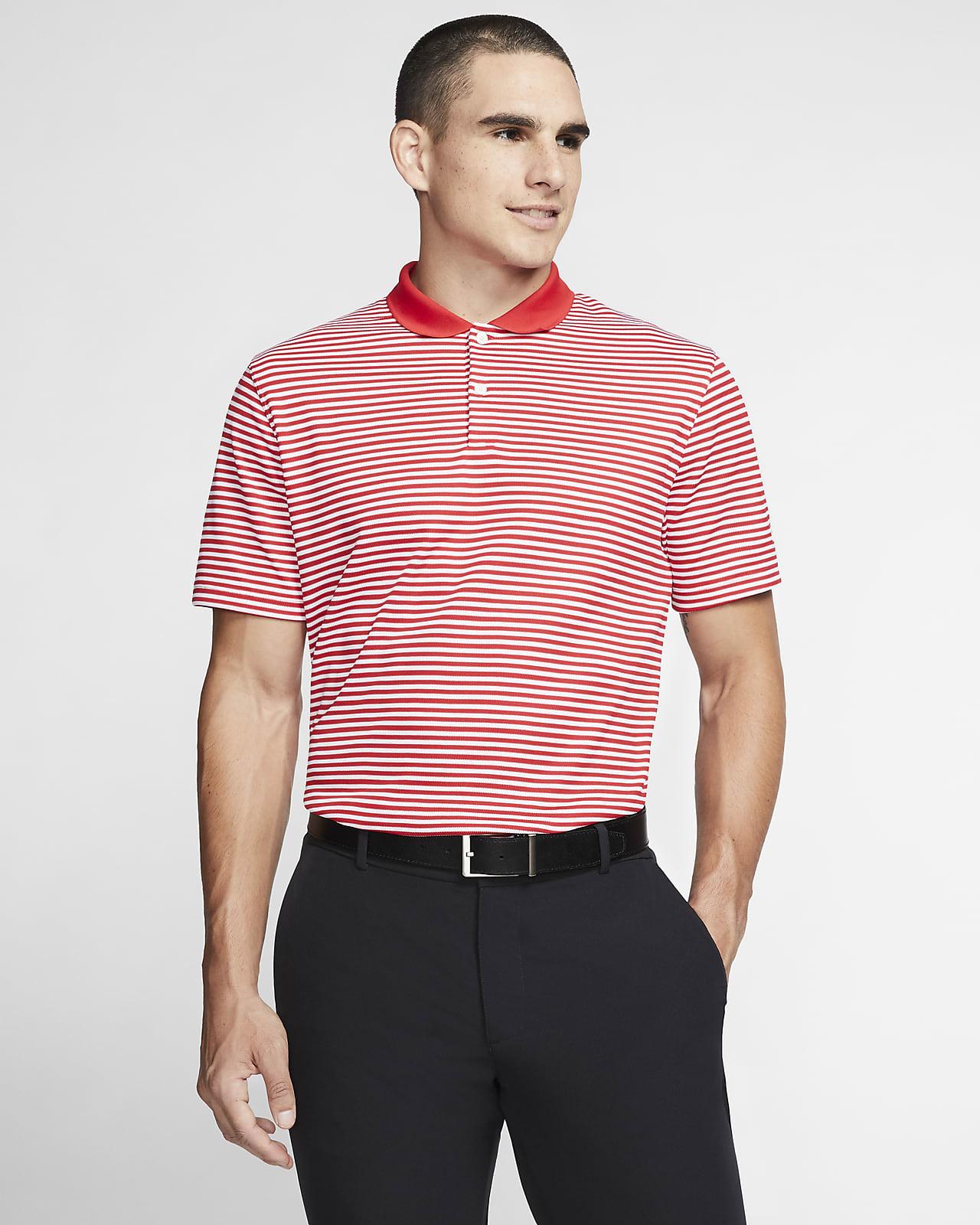 Nike Dri-FIT Victory gestreiftes Golf-Poloshirt für Herren