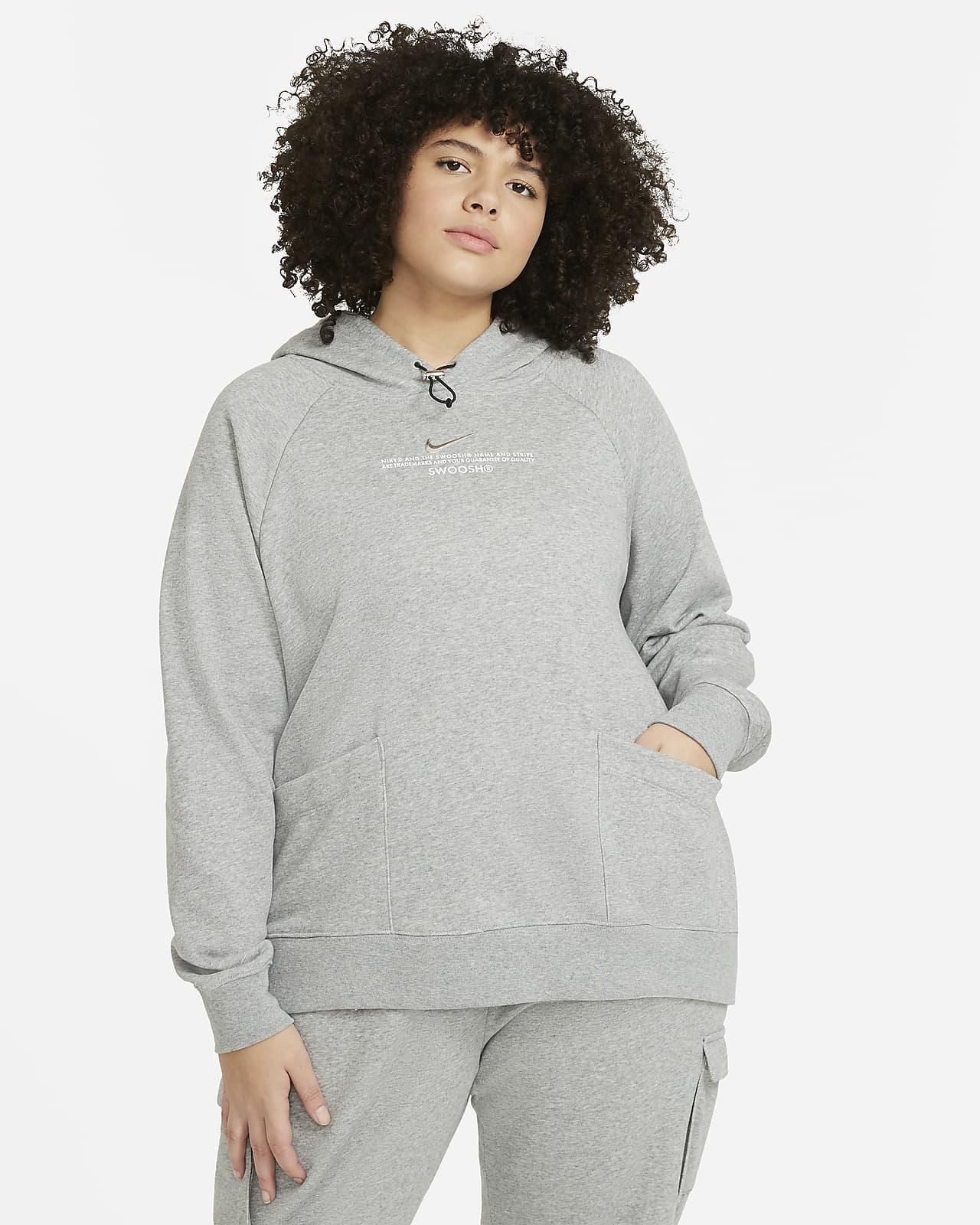 Damska bluza z kapturem Nike Sportswear Swoosh (duże rozmiary)