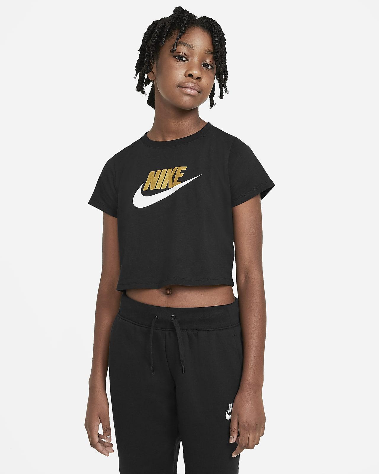 Tee-shirt court Nike Sportswear pour Fille plus âgée