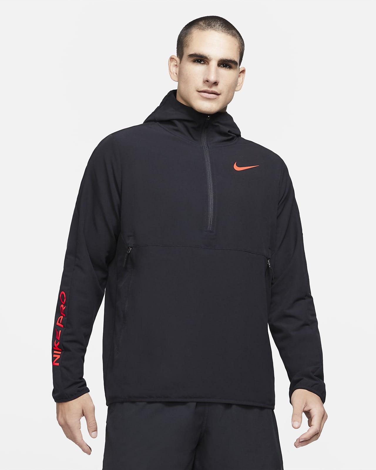 Felpa con cappuccio e zip a 1/4 Nike Pro - Uomo