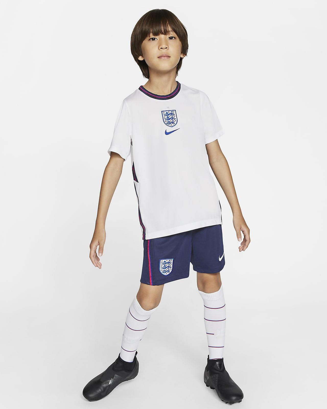 Kit de fútbol de local para niños talla pequeña England 2020
