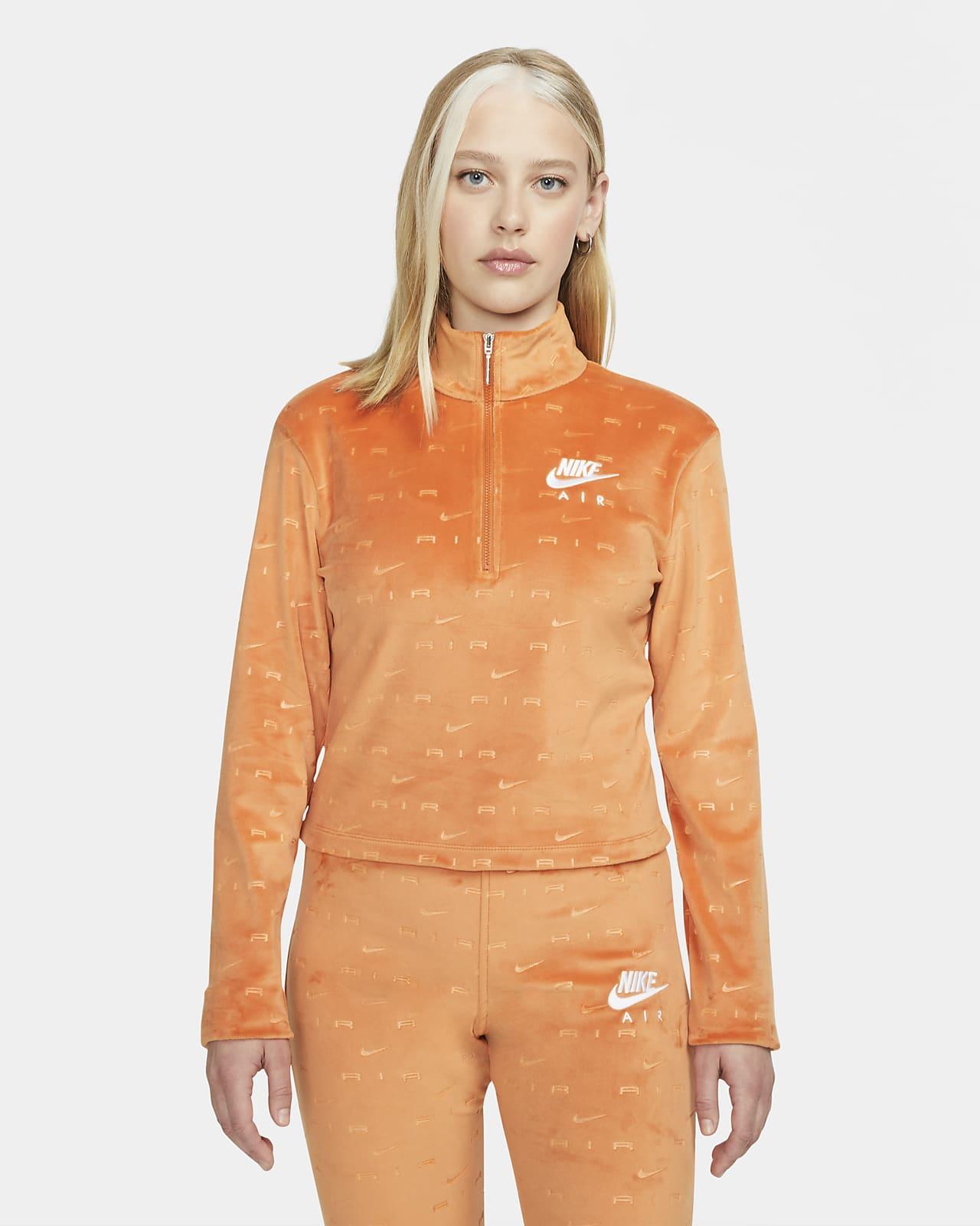 Nike Air Women's Velour 1/4-Zip Long-Sleeve Top