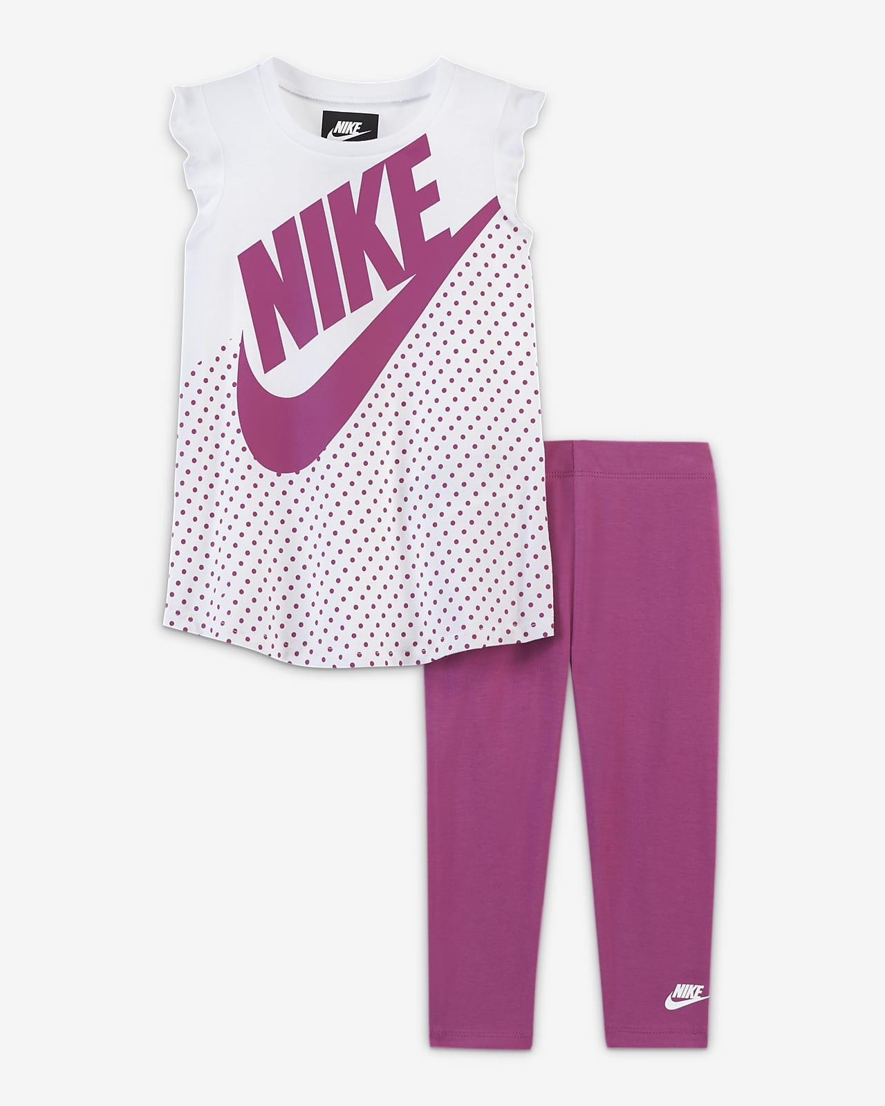 Conjunto De Prenda Para La Parte Superior Y Leggings Para Bebé Nike De 12 A 24 Meses Nike Com