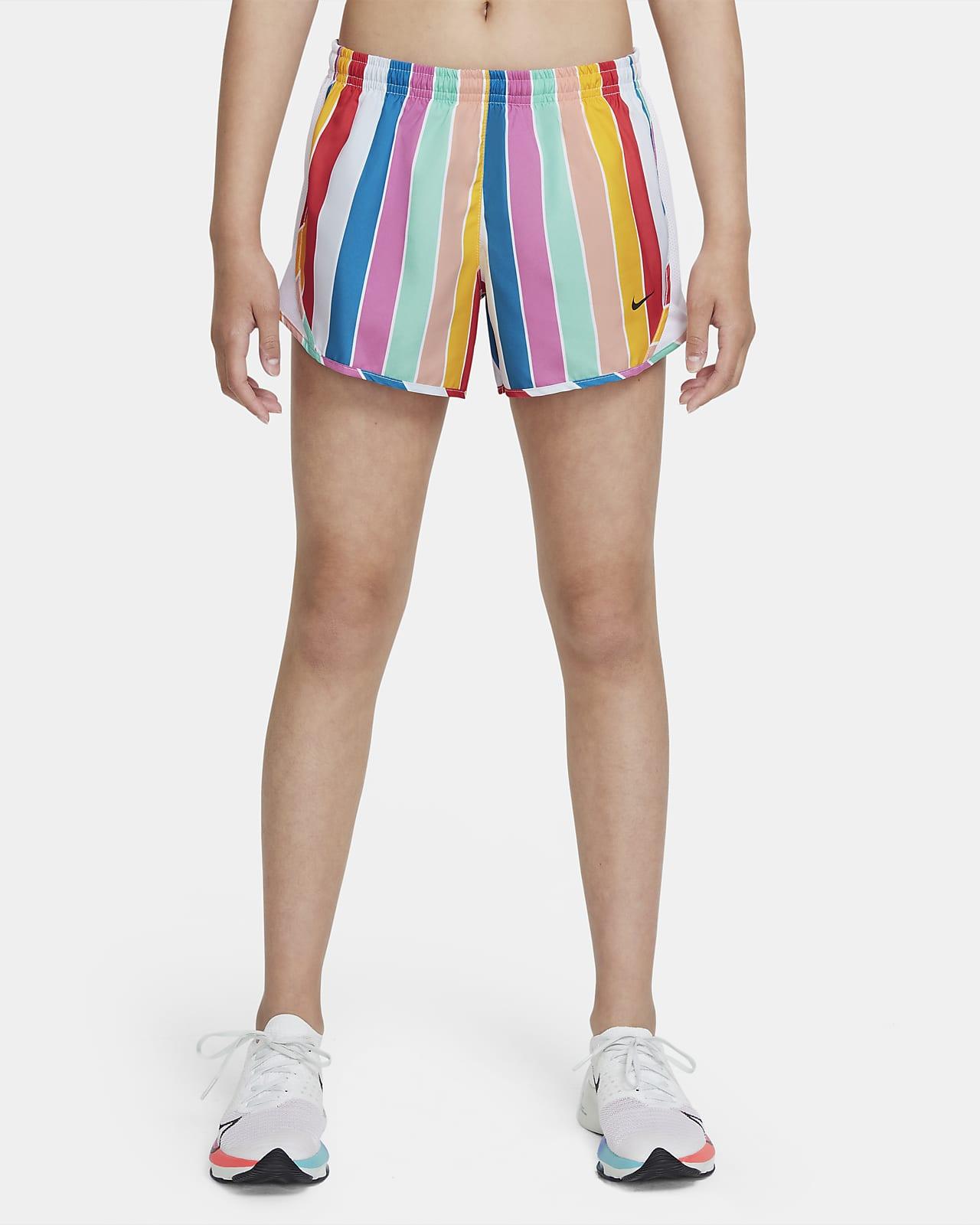 Nike Dri-FIT Tempo Big Kids' (Girls') Striped Running Shorts