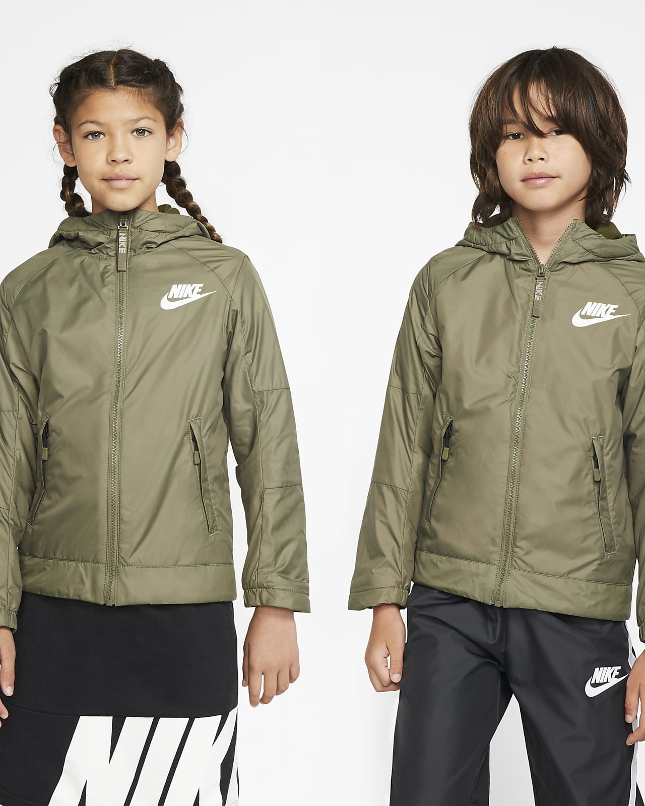 Nike Sportswear-fleecejakke til store børn (drenge)