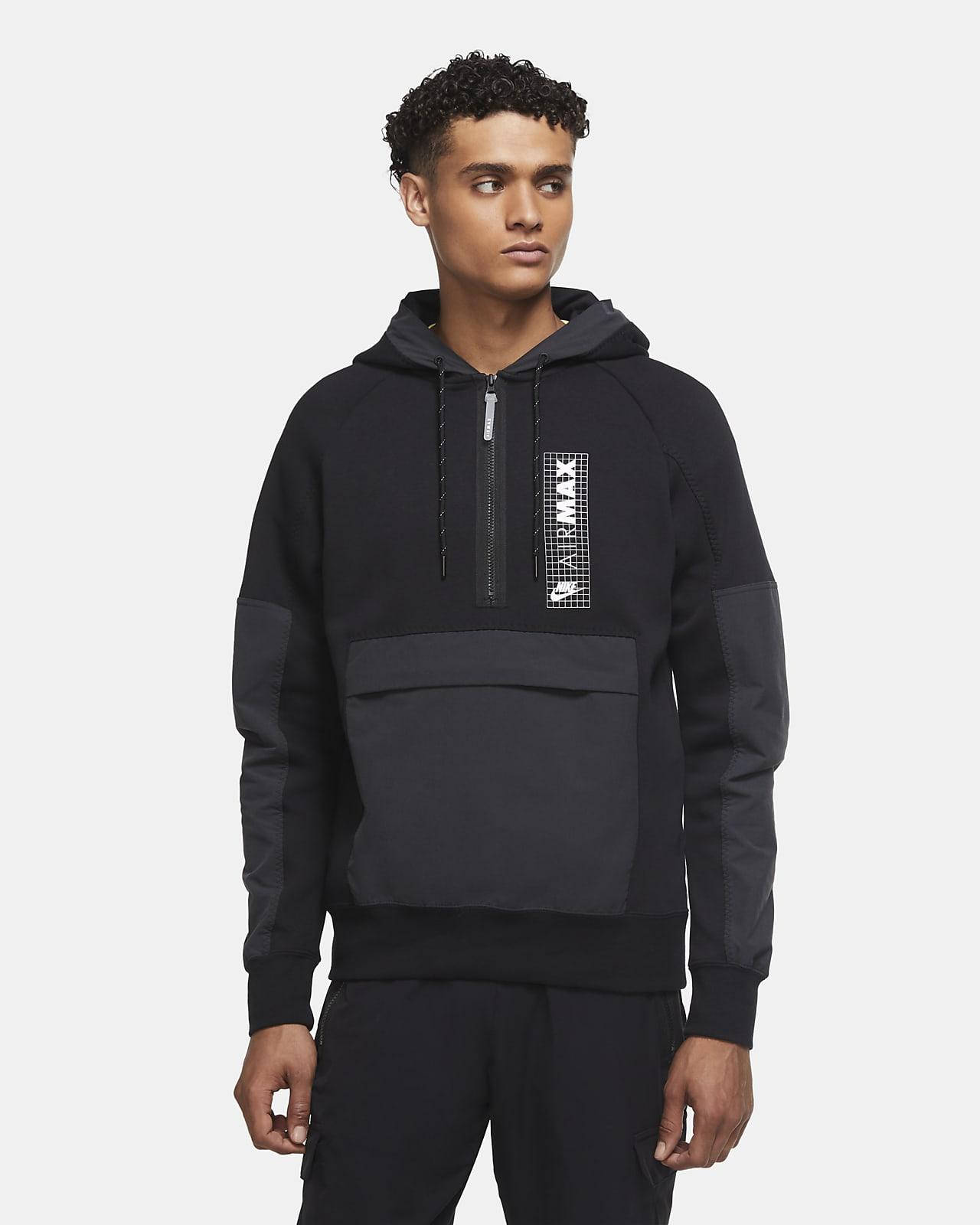 Nike Air Max-fleeceoverdel med lynlås i halv længde til mænd