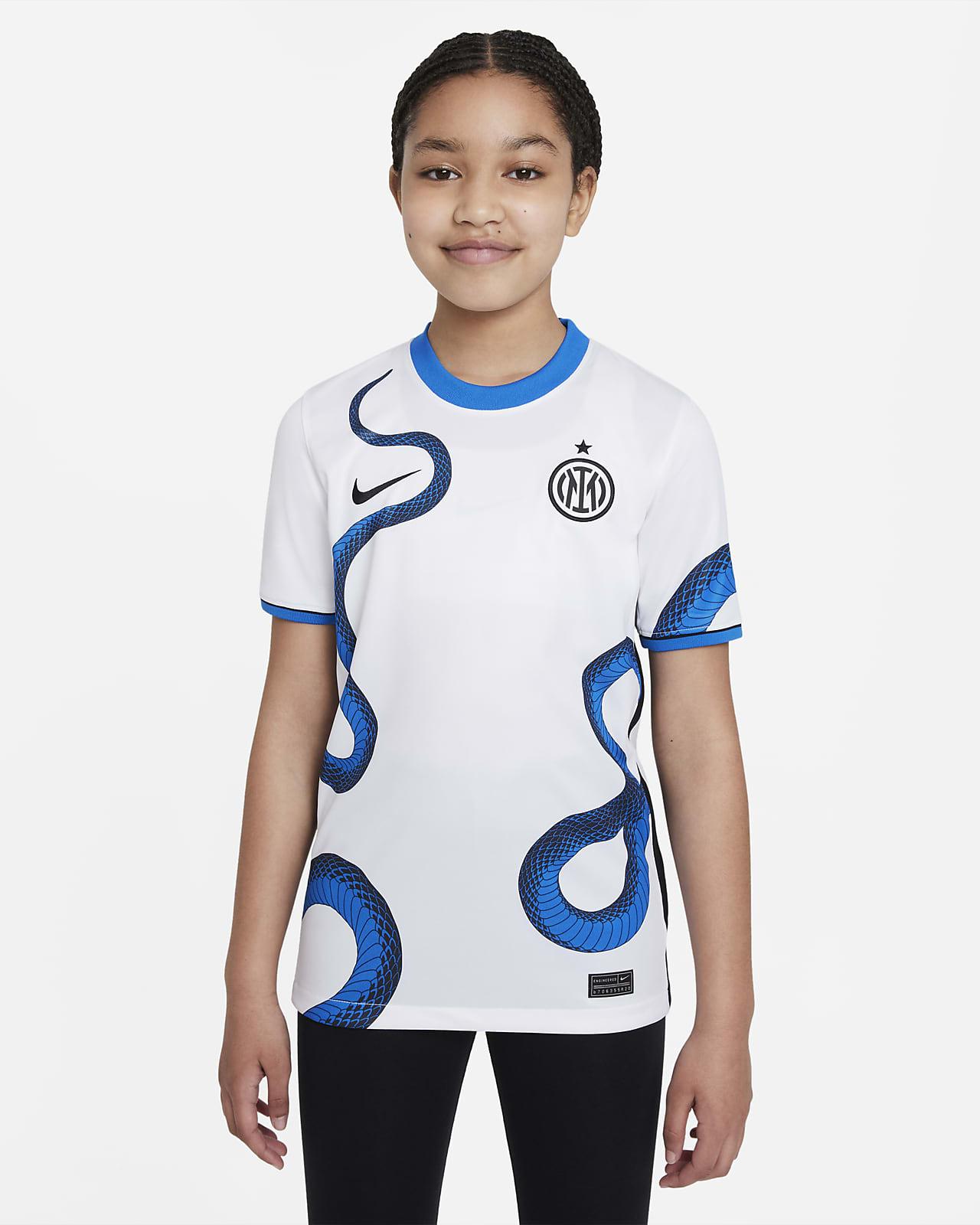 Segunda equipación Stadium Inter de Milán 2021/22 Camiseta de fútbol Nike Dri-FIT - Niño/a