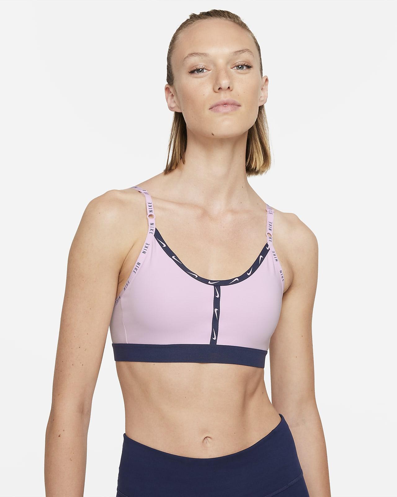 Bra deportivo con cinta de sujeción ligera acolchado con logotipo para mujer Nike Dri-FIT Indy
