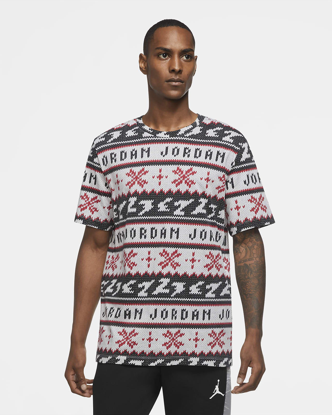 Jordan Ugly Sweater Men's Short-Sleeve T-Shirt