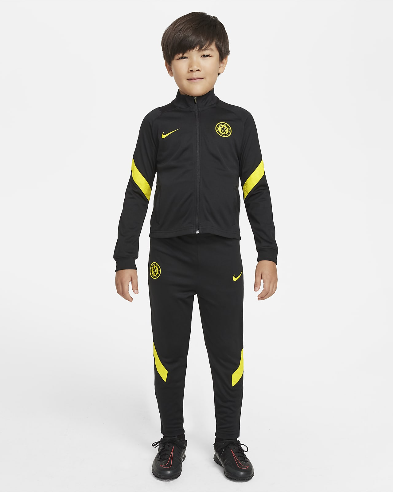 Chelsea F.C. Strike Younger Kids' Nike Dri-FIT Football Tracksuit