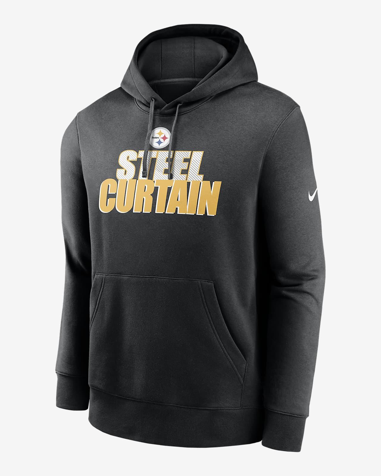 Nike Club Fleece (NFL Steelers) Men's Pullover Hoodie