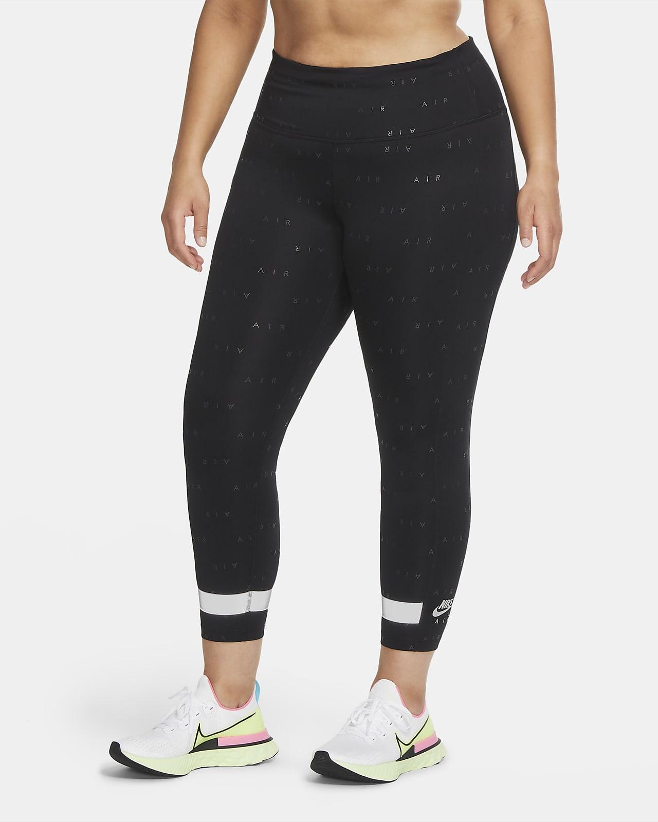 Leggings de running a 7/8 de cintura subida Nike Air para mulher (tamanho Plus)