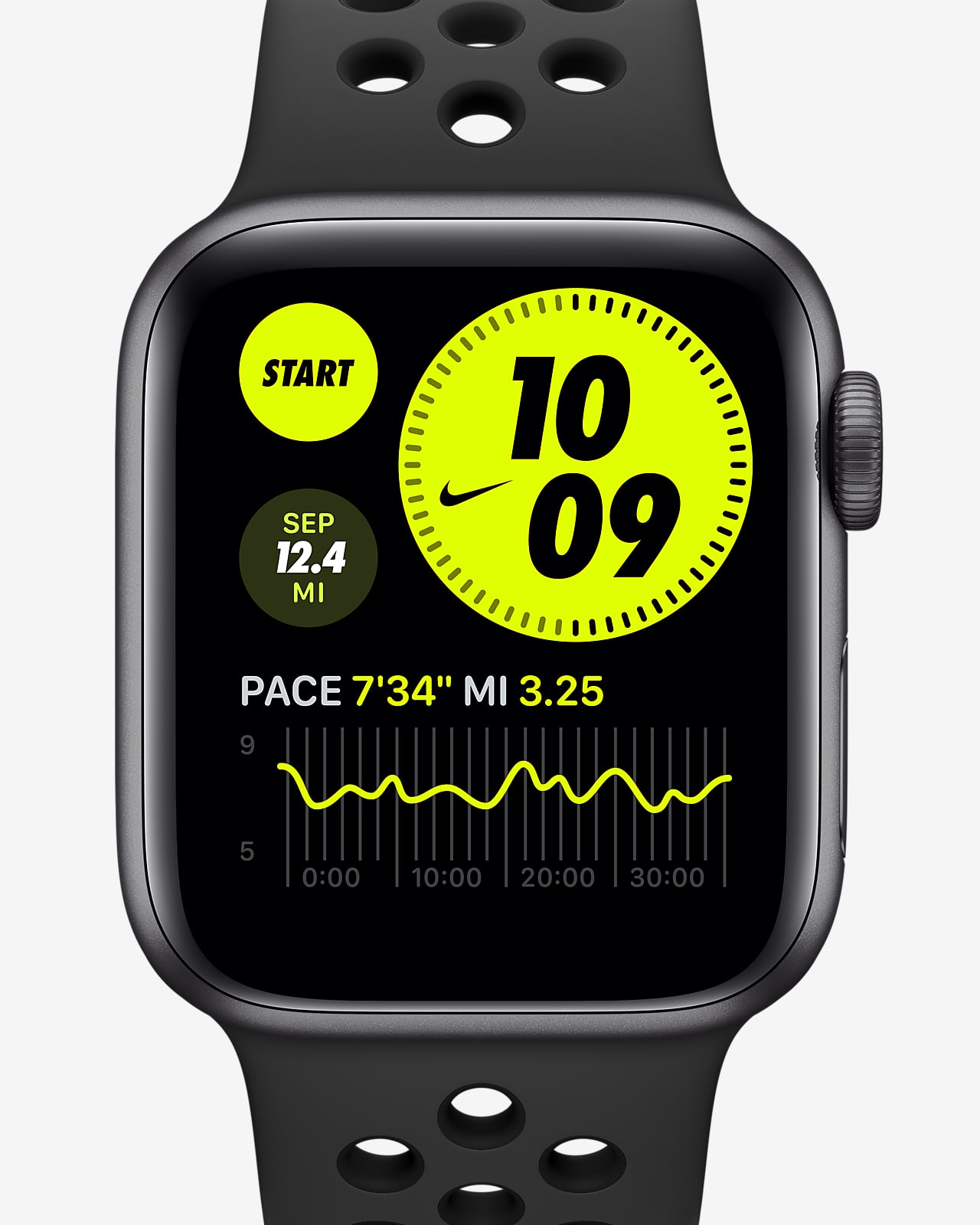 Apple Watch Nike SE (GPS) with Nike Sport Band 40mm Space Gray Aluminum Case