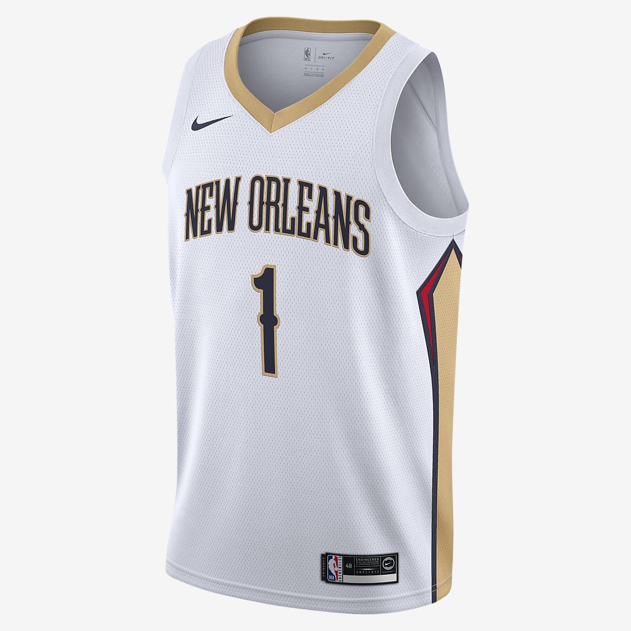 新奥尔良鹈鹕队 (Zion Williamson) Association Edition Nike NBA Jersey 男子球衣