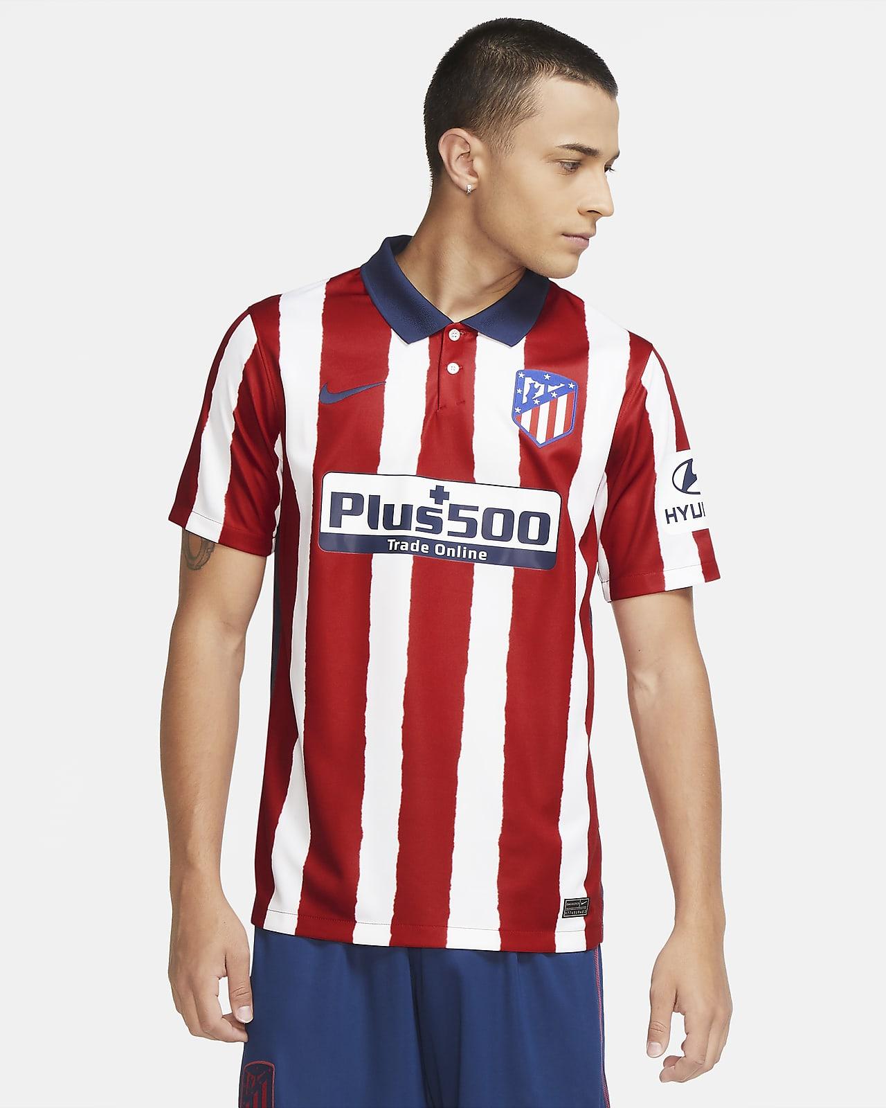 Atletico Madrid 2020 21 Stadium Home Men S Football Shirt Nike Lu