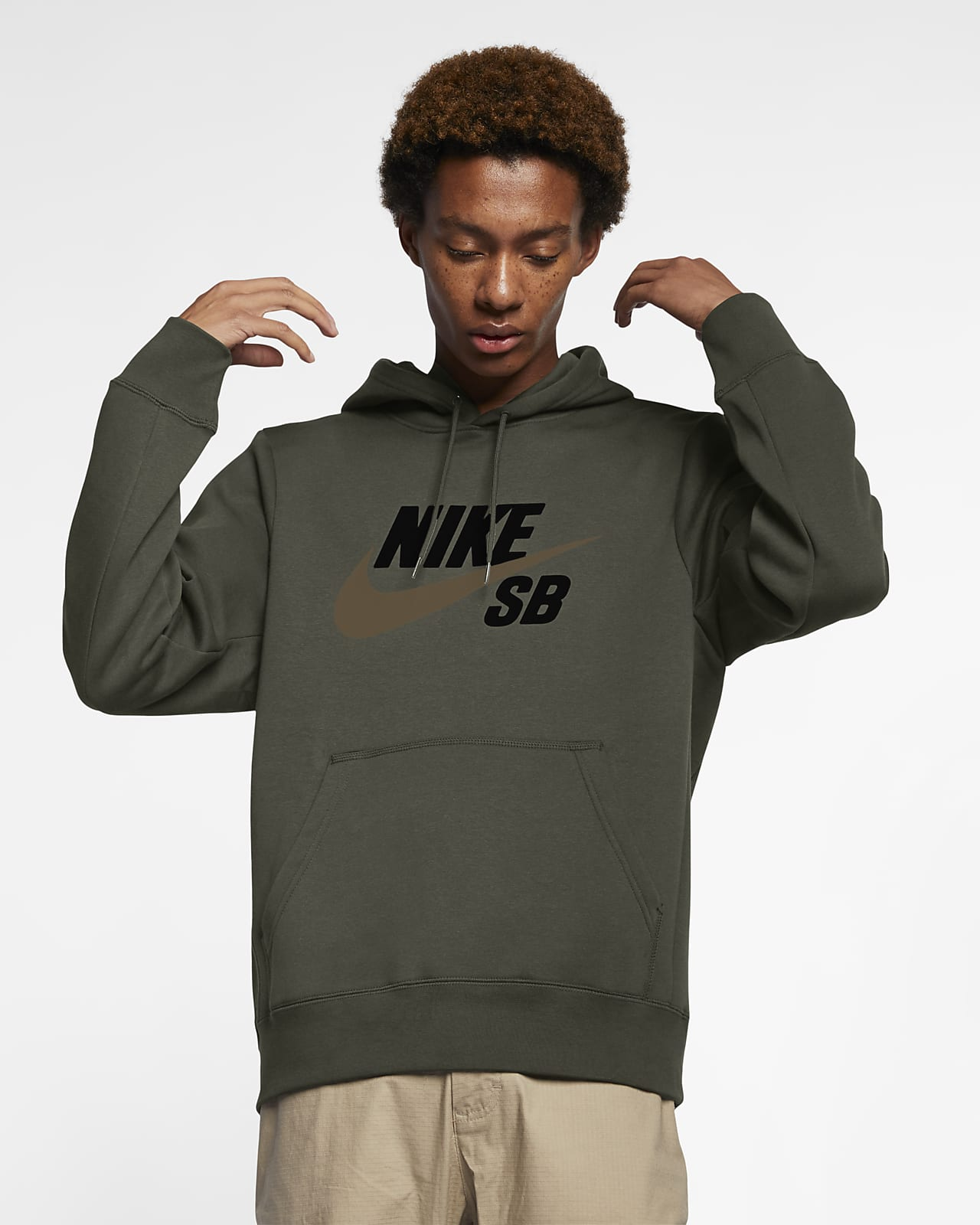 curva esquina Transporte  Nike SB Icon Pullover Skate Hoodie. Nike SE