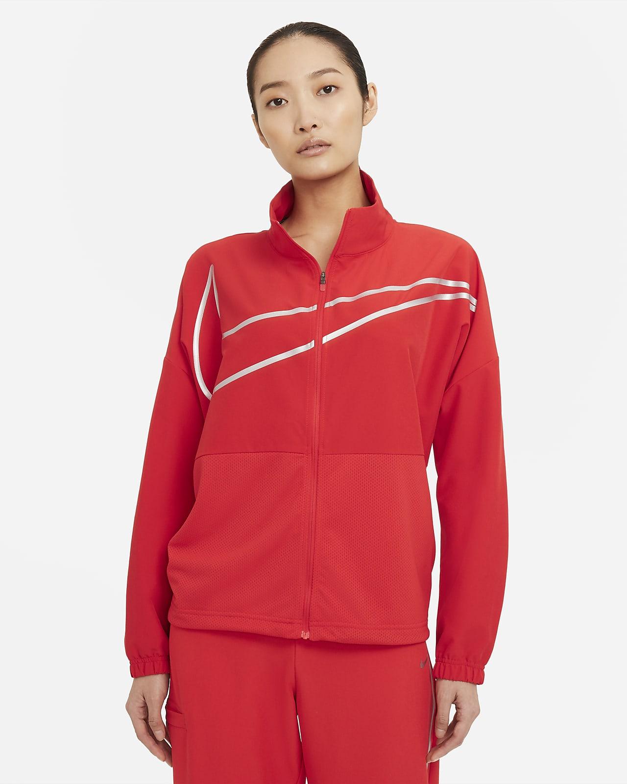 Nike Pro 女款梭織全長式拉鍊上衣