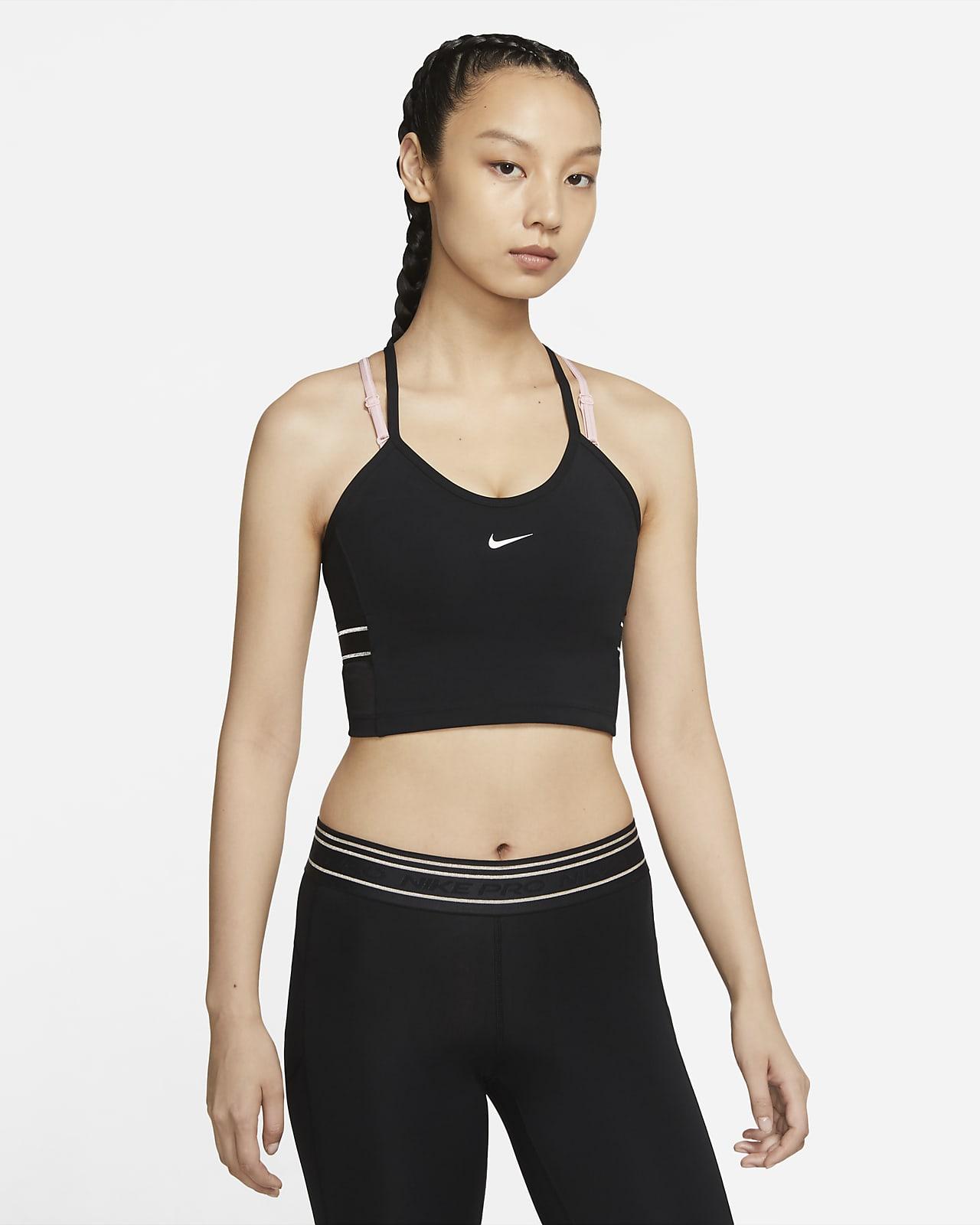 Camiseta de tirantes con bra corta para mujer Nike Pro Dri-FIT