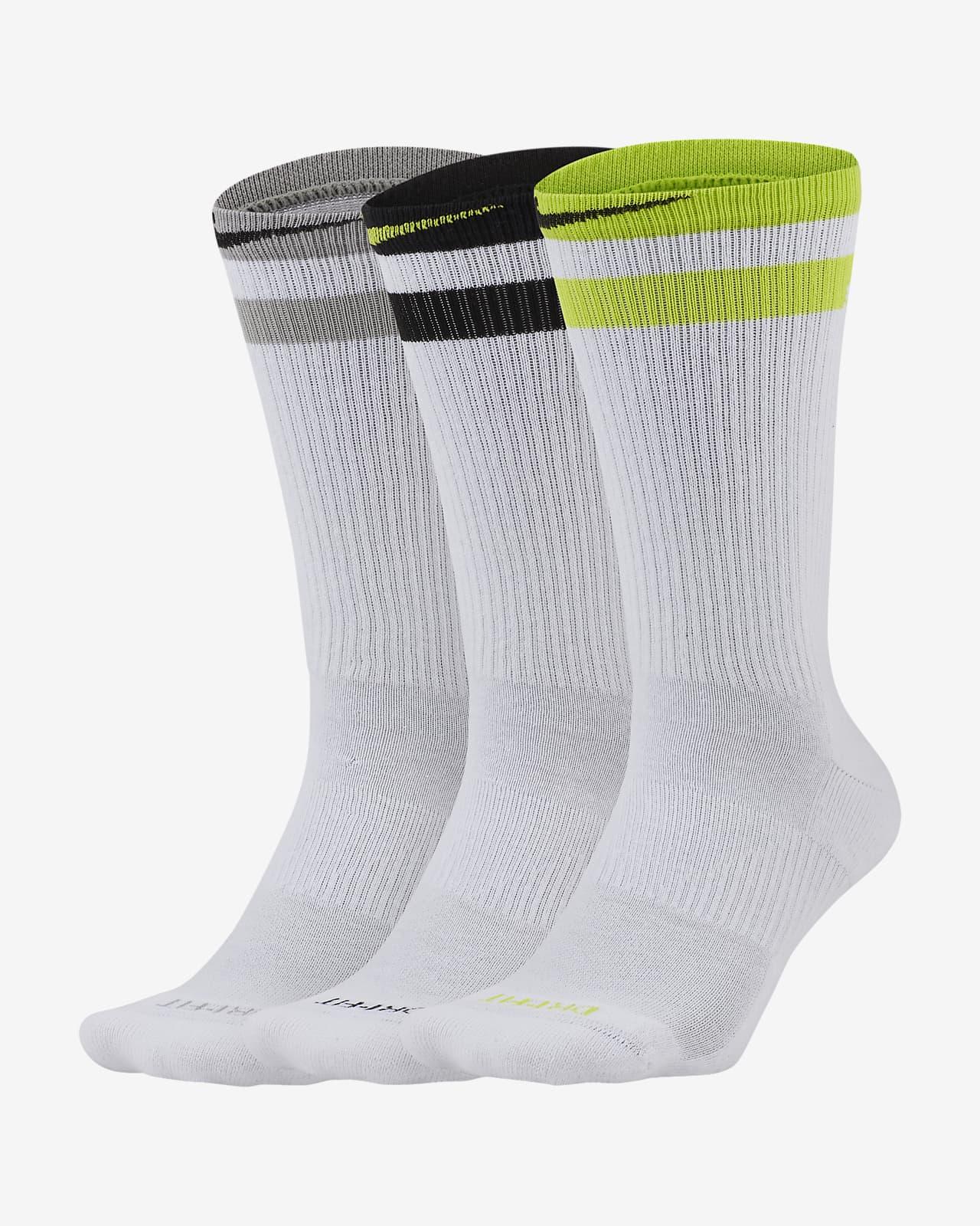 Nike Everyday Plus Cushioned 训练运动袜(3 双)