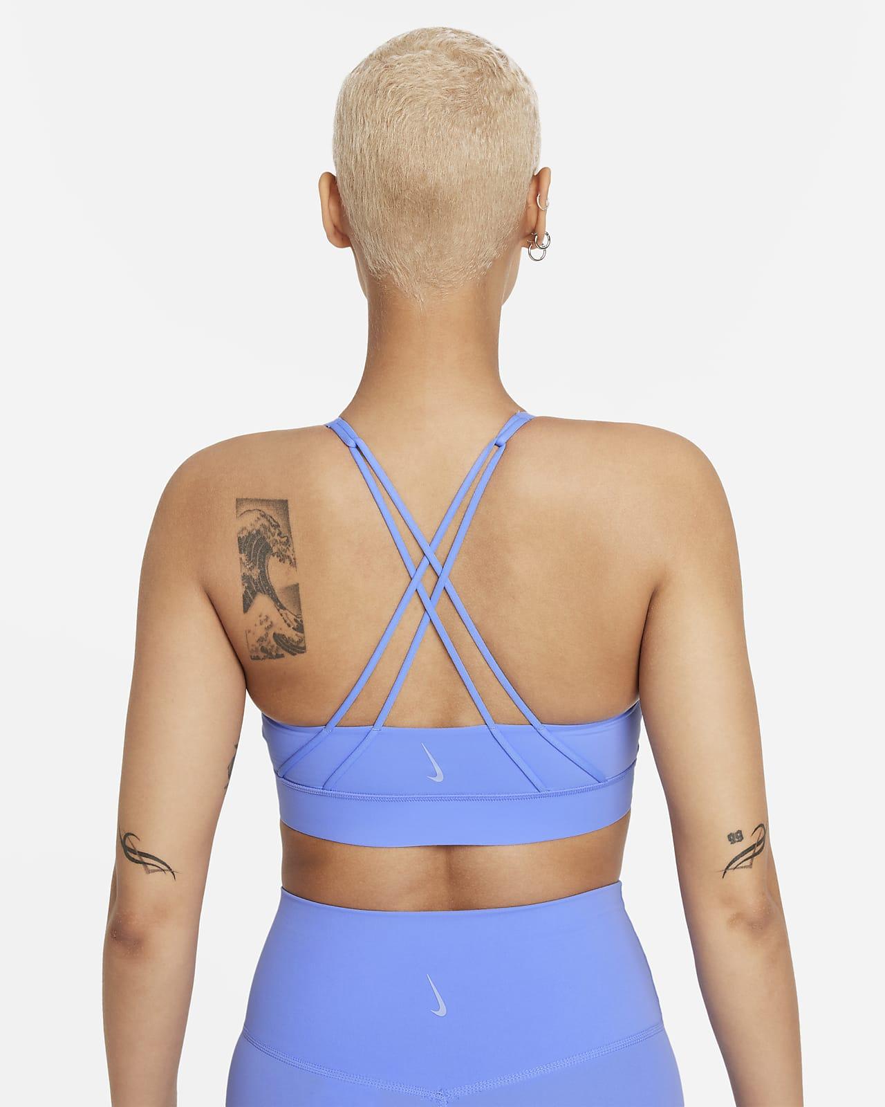 Nike Swoosh Luxe gepolsterter Sport-BH mit mittlerem Halt