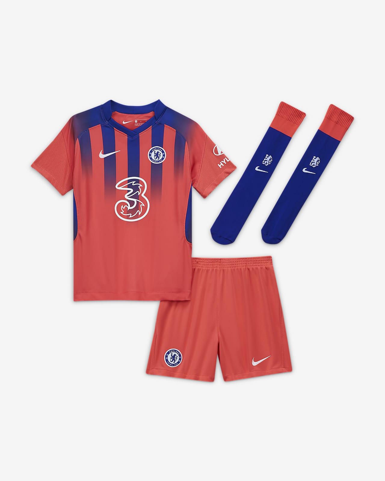 Kit de fútbol alternativo para niños talla pequeña del Chelsea FC 2020/21