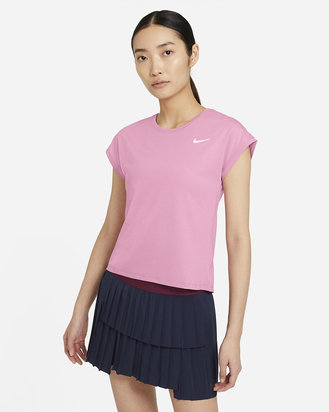 Top da tennis a manica corta NikeCourt Dri-FIT Victory - Donna