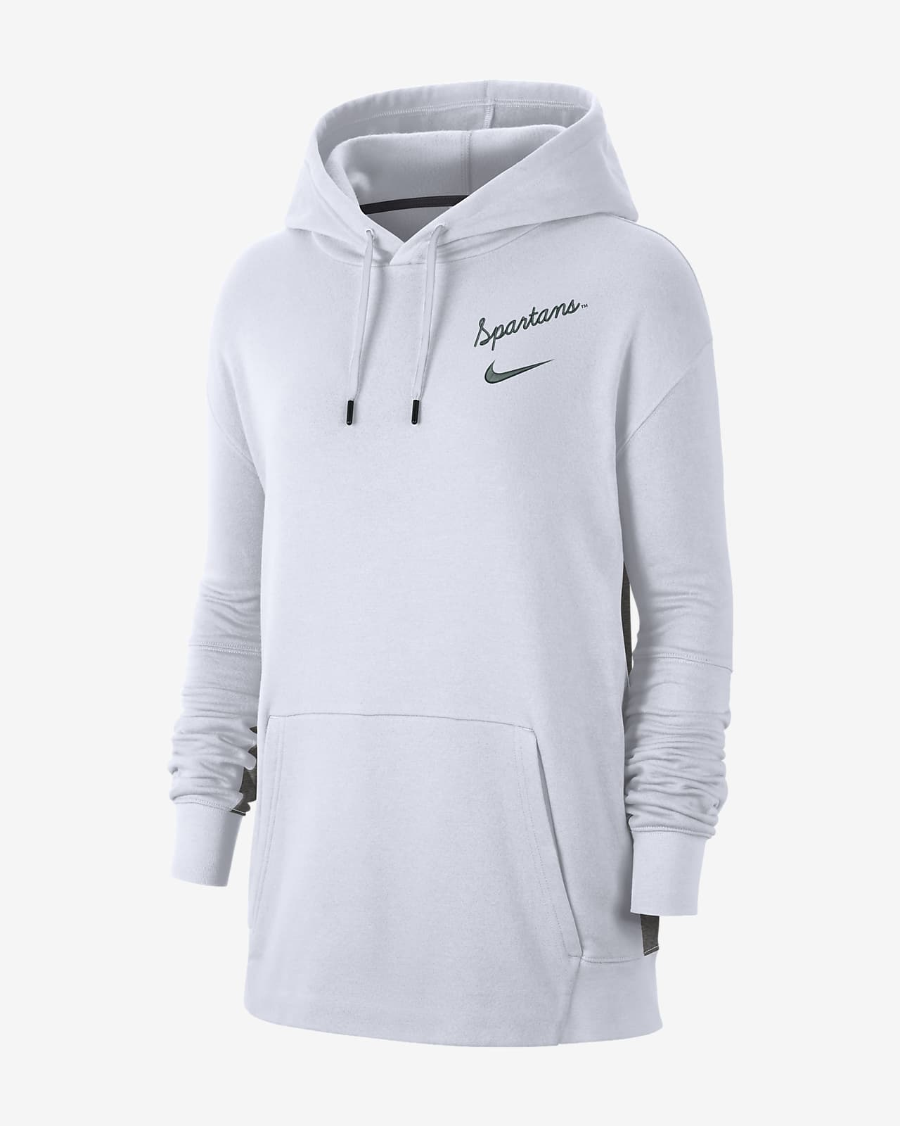 Nike College (Michigan State) Women's Fleece Pullover Hoodie