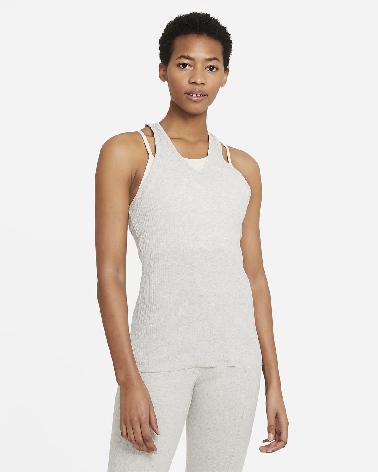 Camiseta de tirantes de tela rib para mujer Nike Yoga