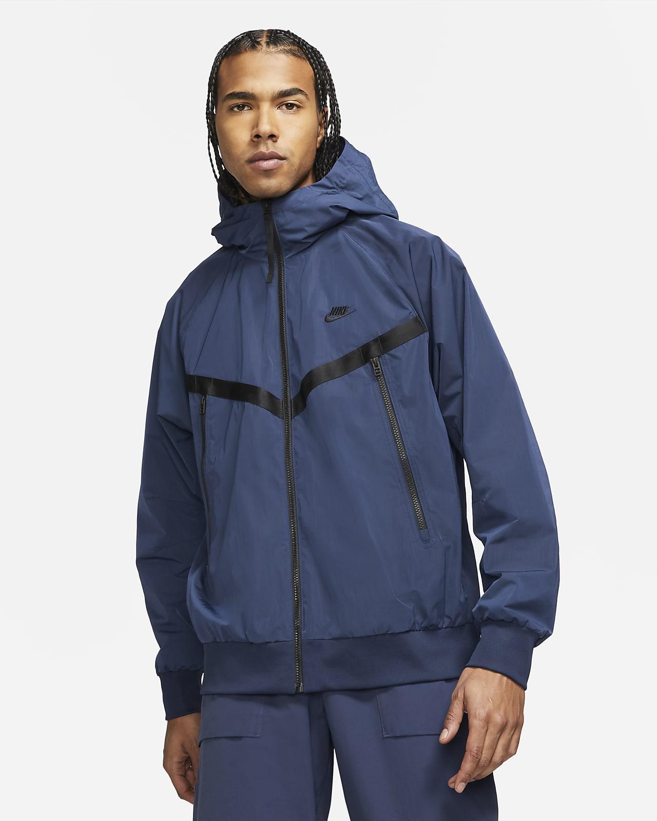 Ofodrad jacka med huva Nike Sportswear Premium Essentials Windrunner för män