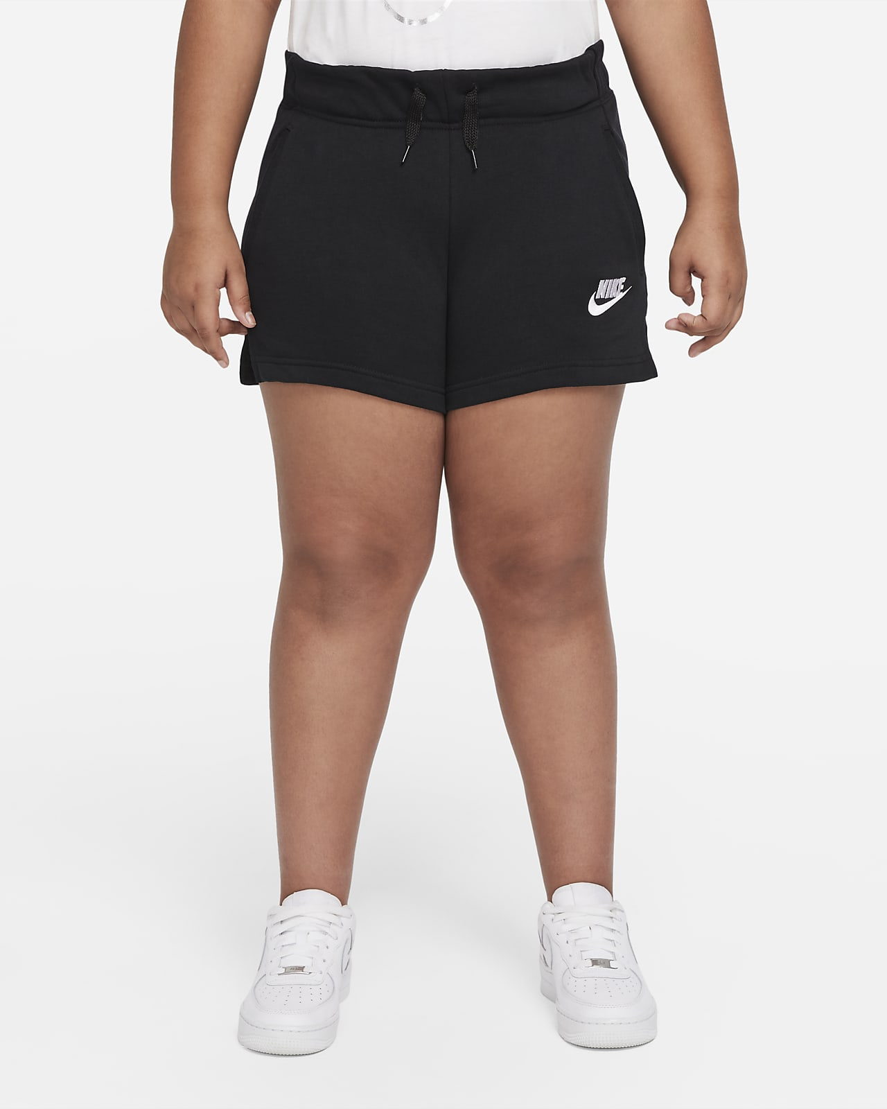 Nike Sportswear Club Big Kids' (Girls') French Terry Shorts (Extended Size)