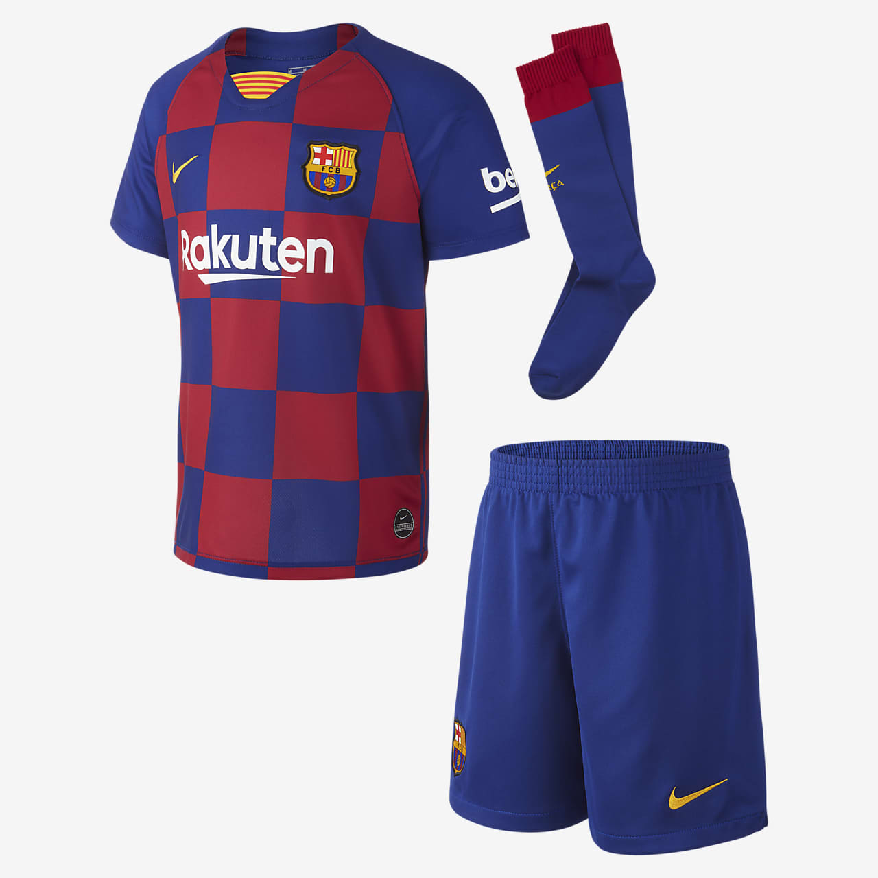 FC Barcelona 2019/20 Home Younger Kids' Football Kit