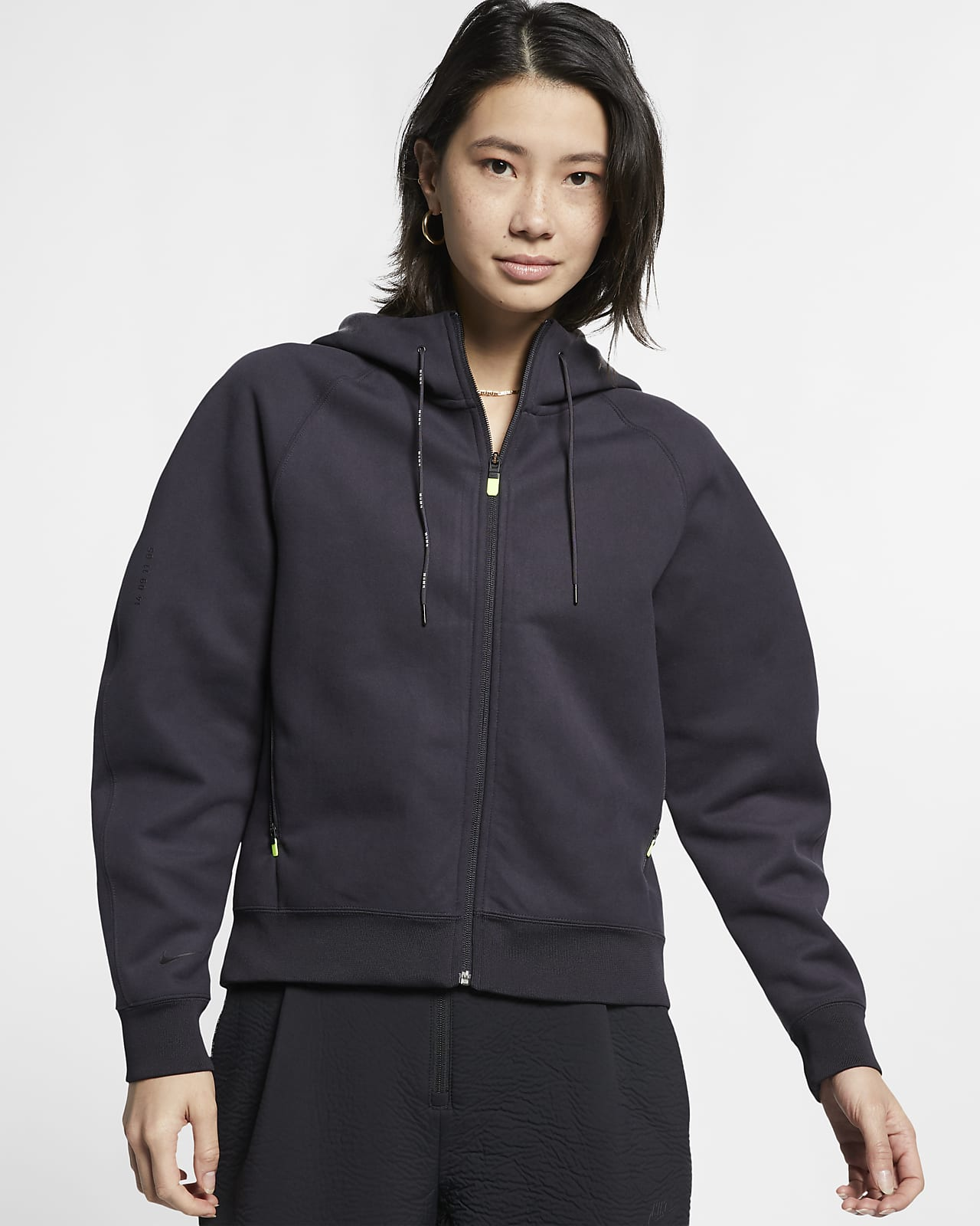 Sudadera con capucha de tejido Fleece y cierre completo para mujer Nike Sportswear Tech Pack