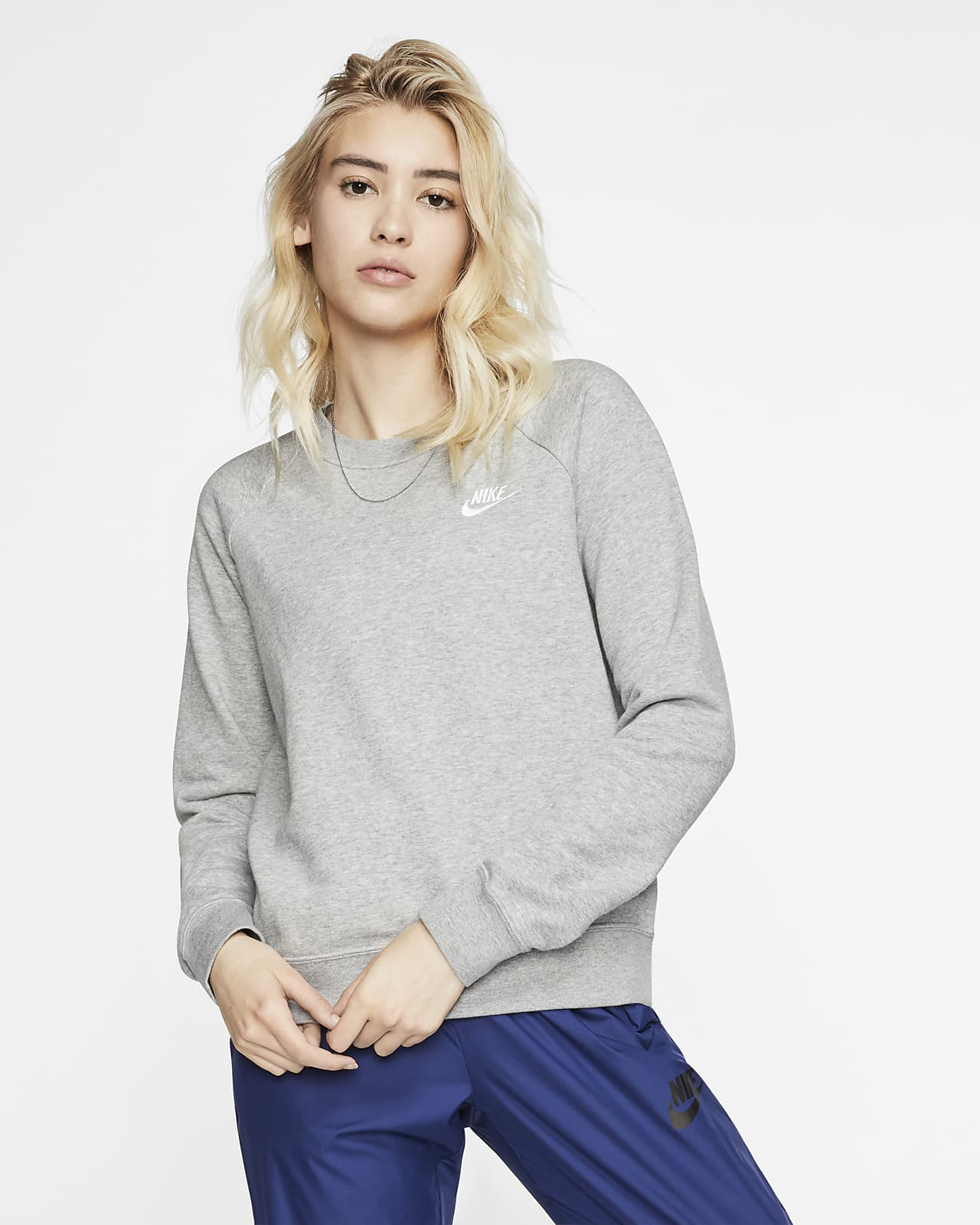 Nike Sportswear Essential-crewtrøje i fleece til kvinder