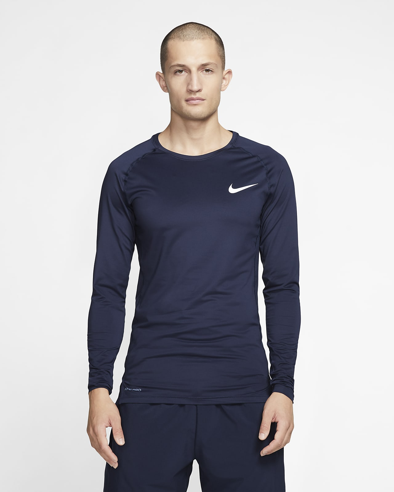 Nike Pro langermet overdel med tettsittende passform til herre