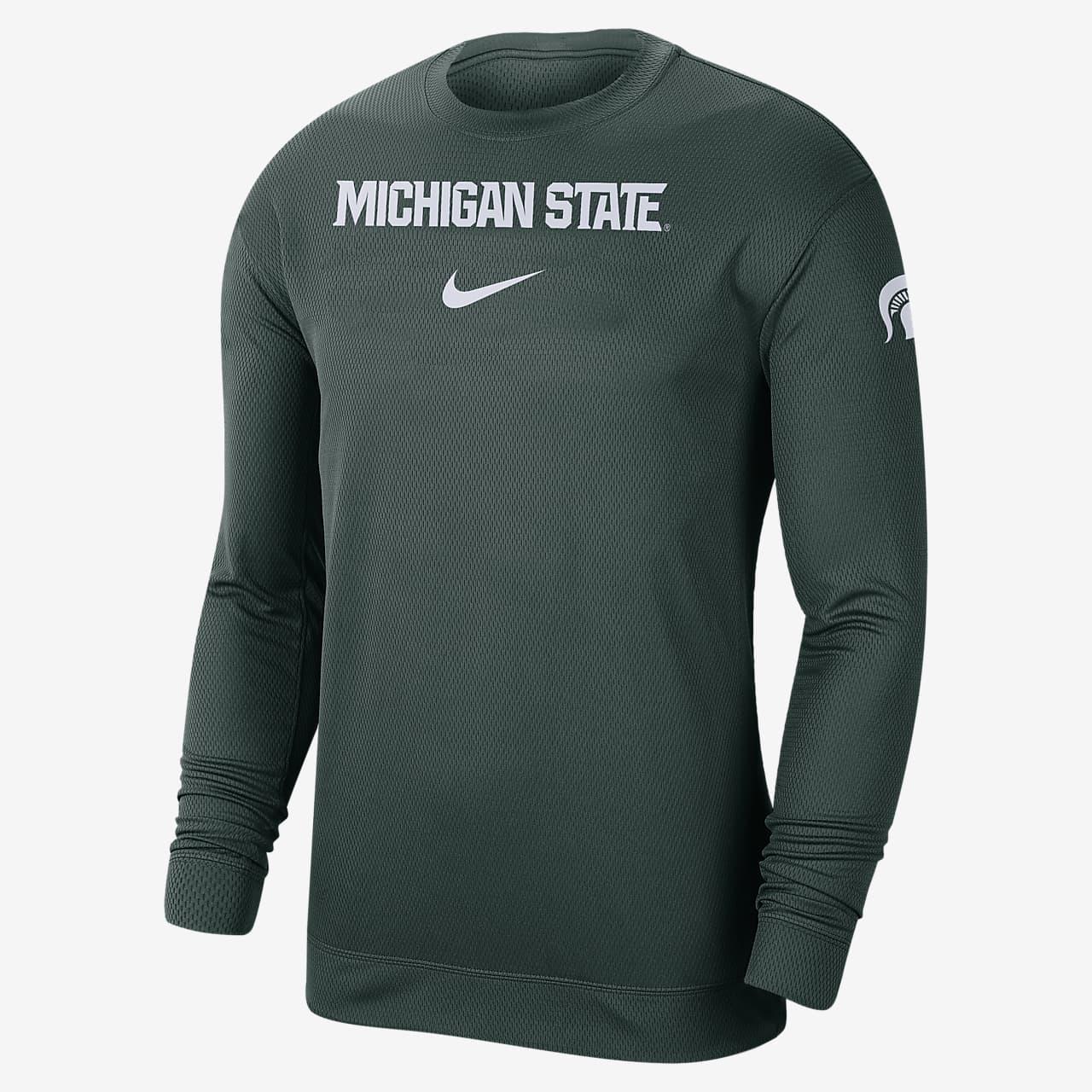 Nike College Dri-FIT Spotlight (Michigan State) Men's Long-Sleeve Top
