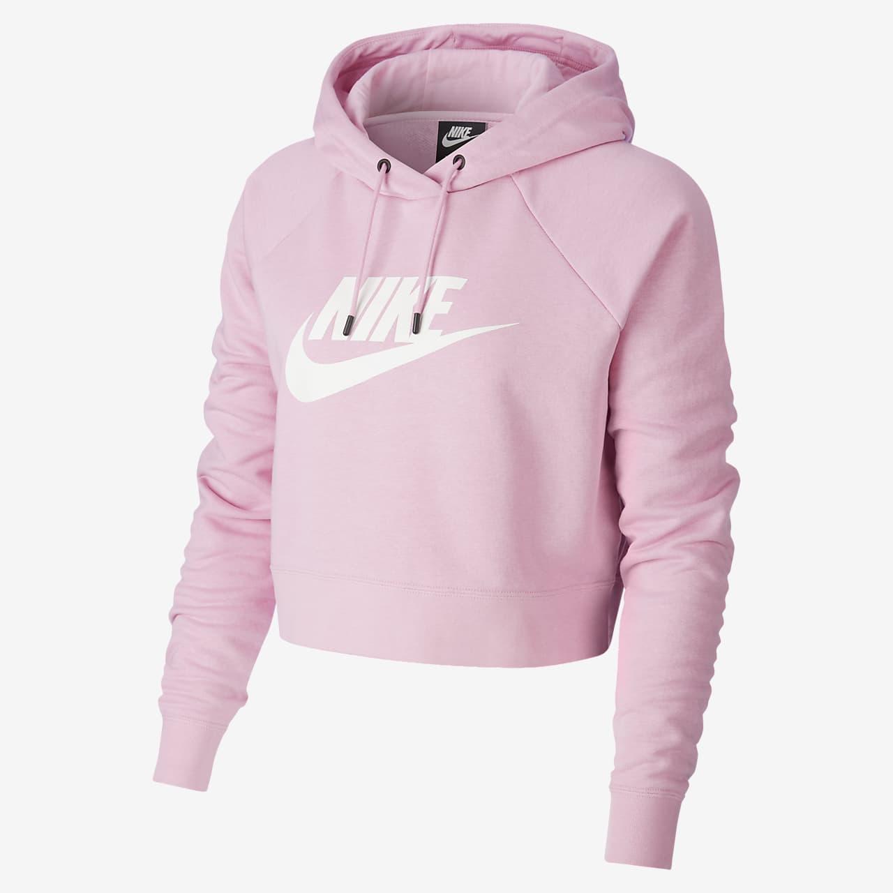 Sweat à capuche court Nike Sportswear Essential pour Femme